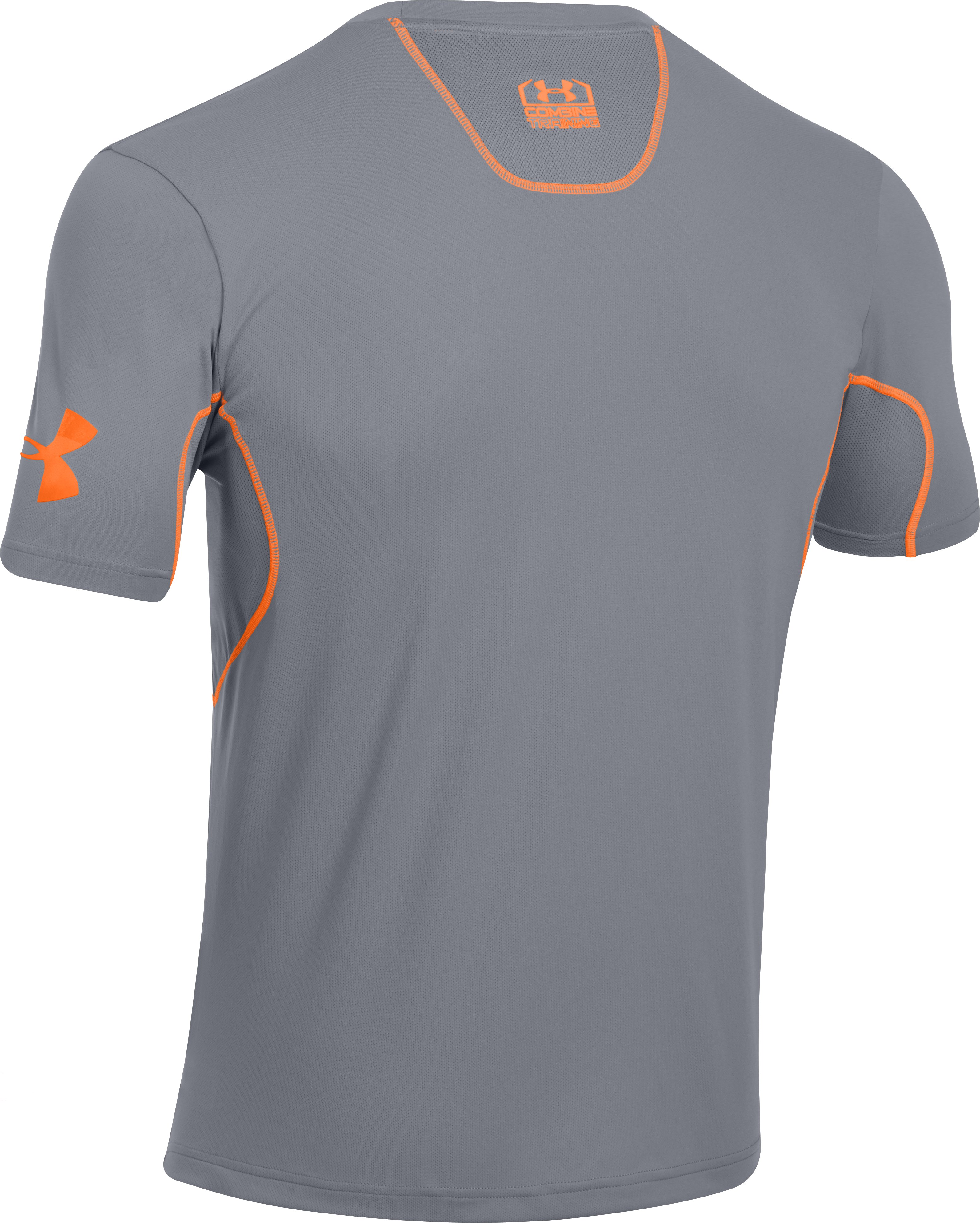 Men's UA Combine® Training Short Sleeve, Steel, undefined