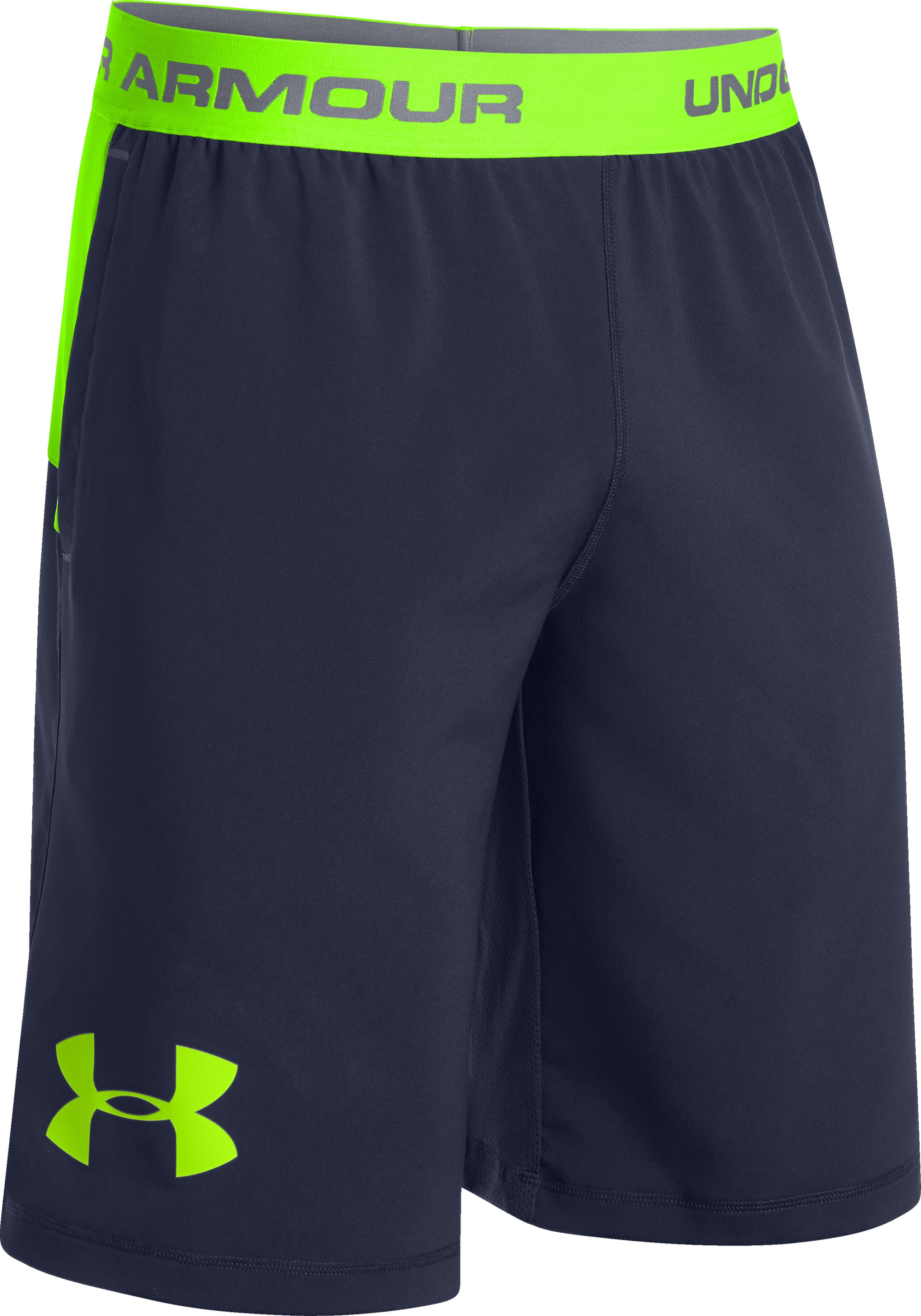 Men's UA Combine® Training Woven Shorts, Midnight Navy