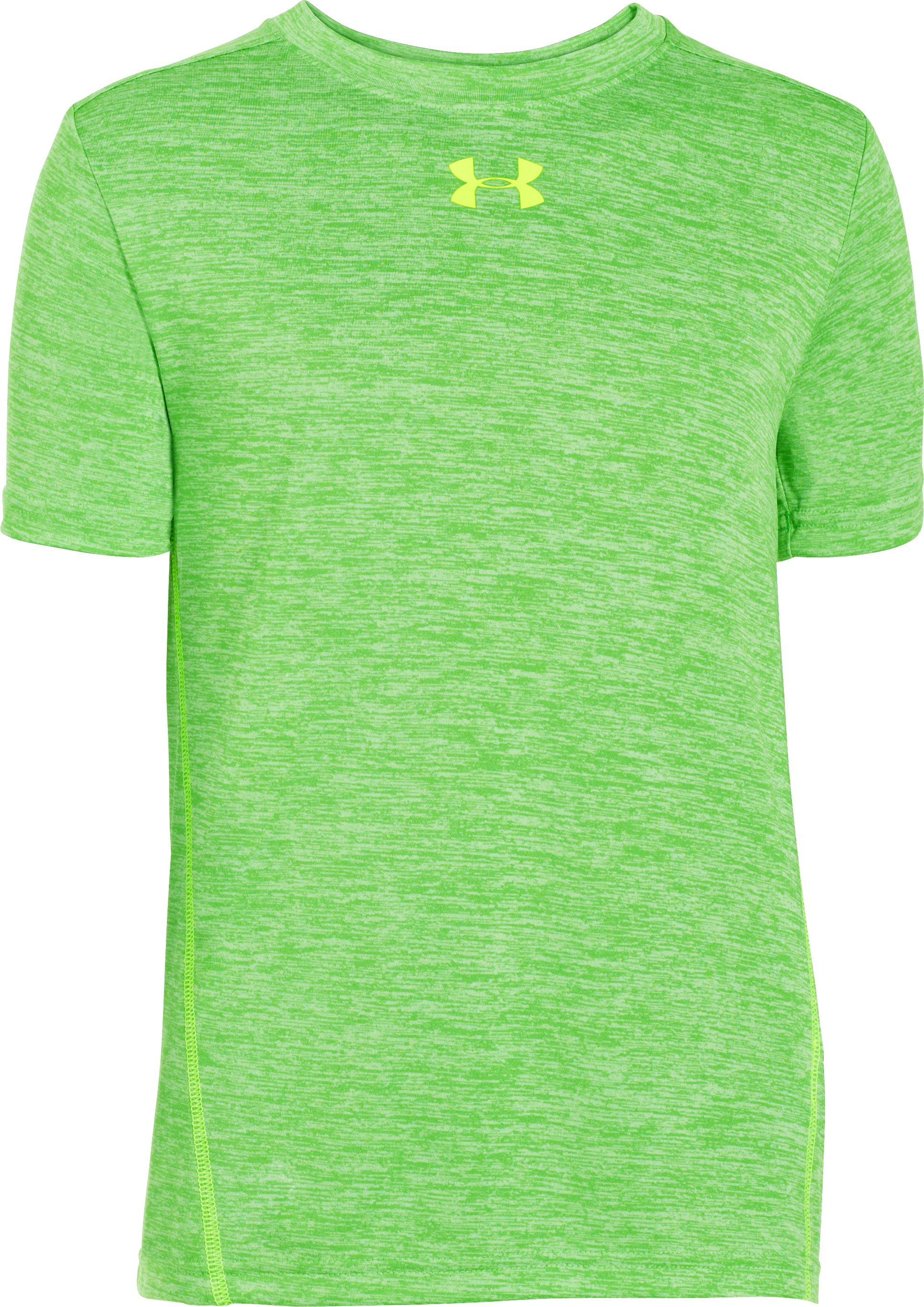 Boys' UA Tech™ Twist Short Sleeve T-Shirt, Lizard, zoomed image