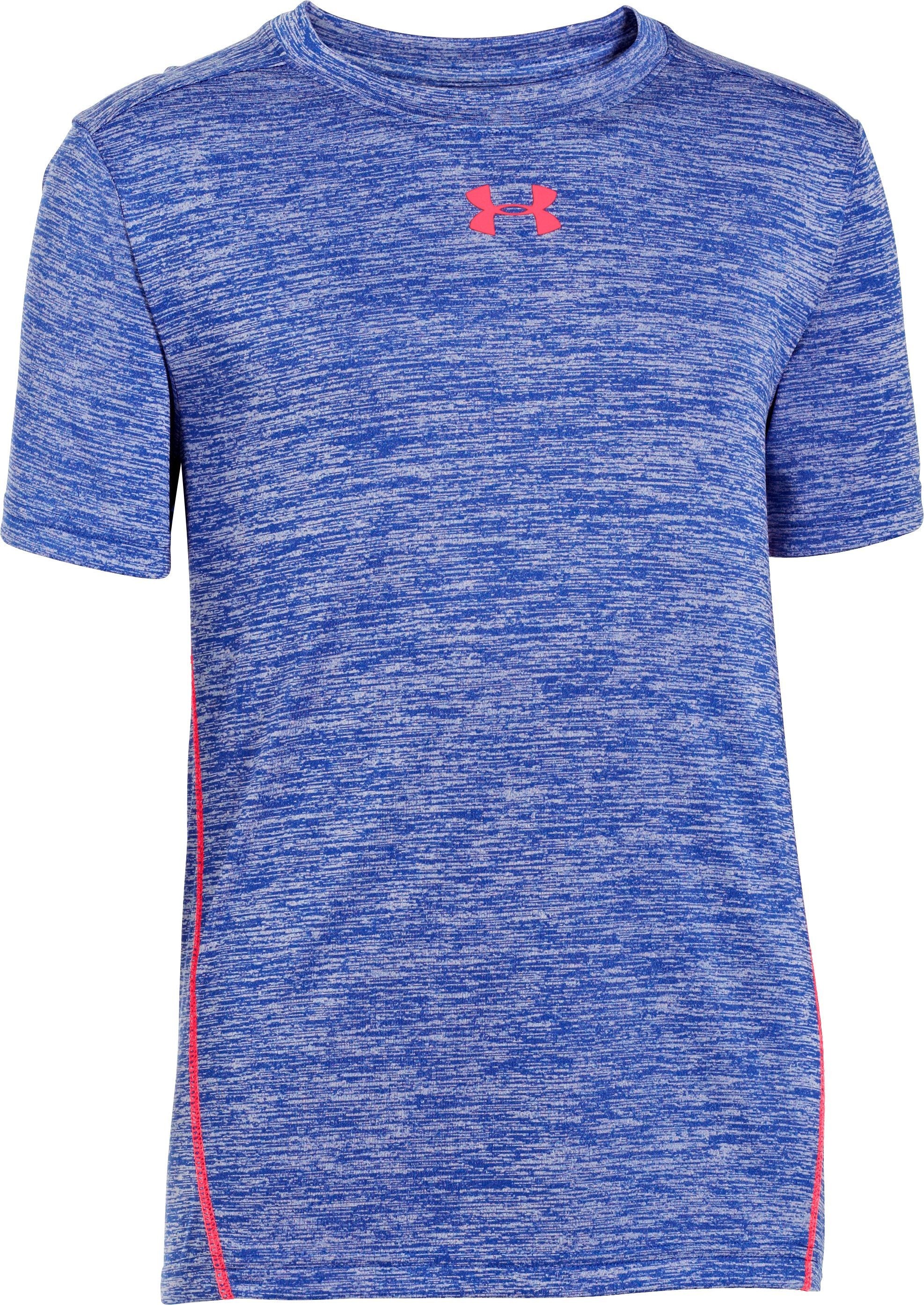 Boys' UA Tech™ Twist Short Sleeve T-Shirt, Royal, zoomed image