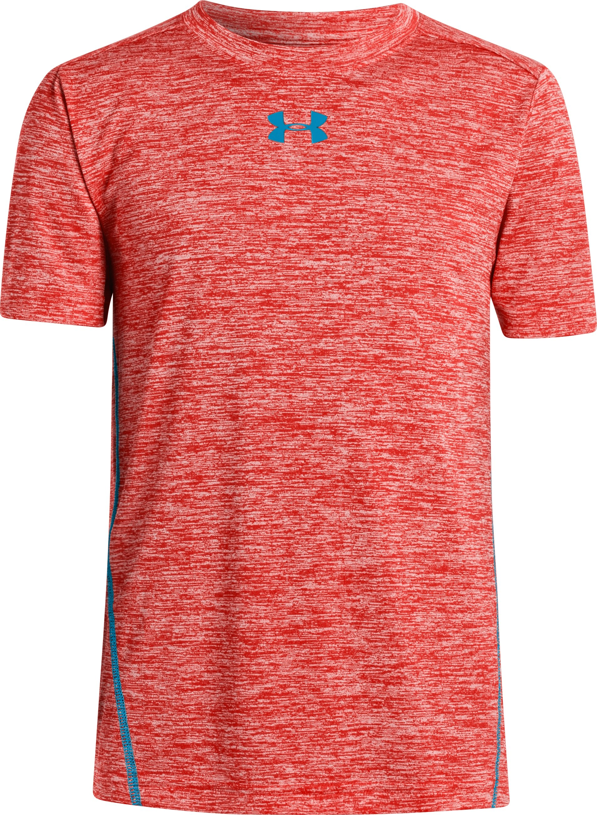 Boys' UA Tech™ Twist Short Sleeve T-Shirt, Noise, zoomed image