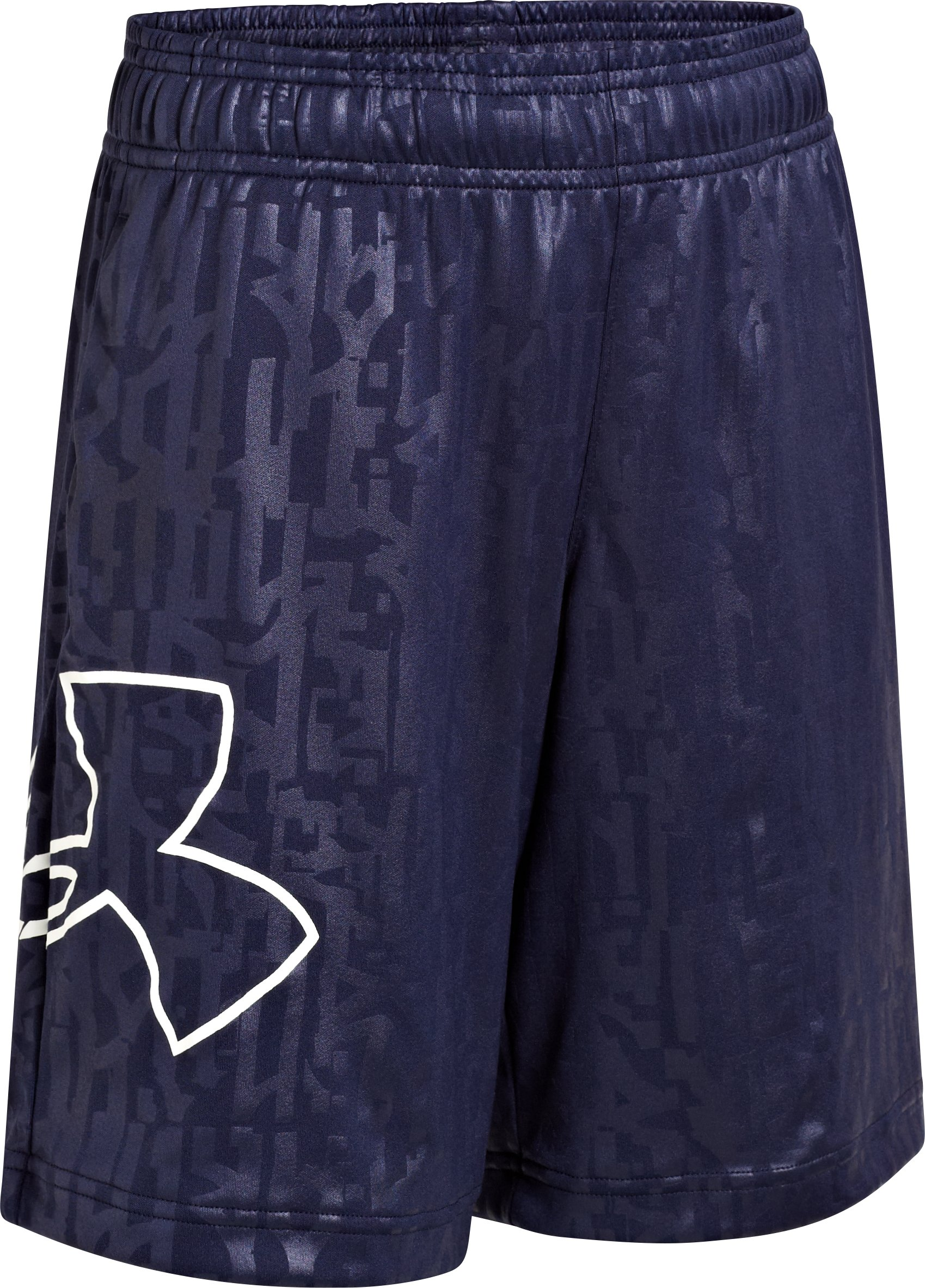 Boys' UA Allover Shorts, Midnight Navy, undefined