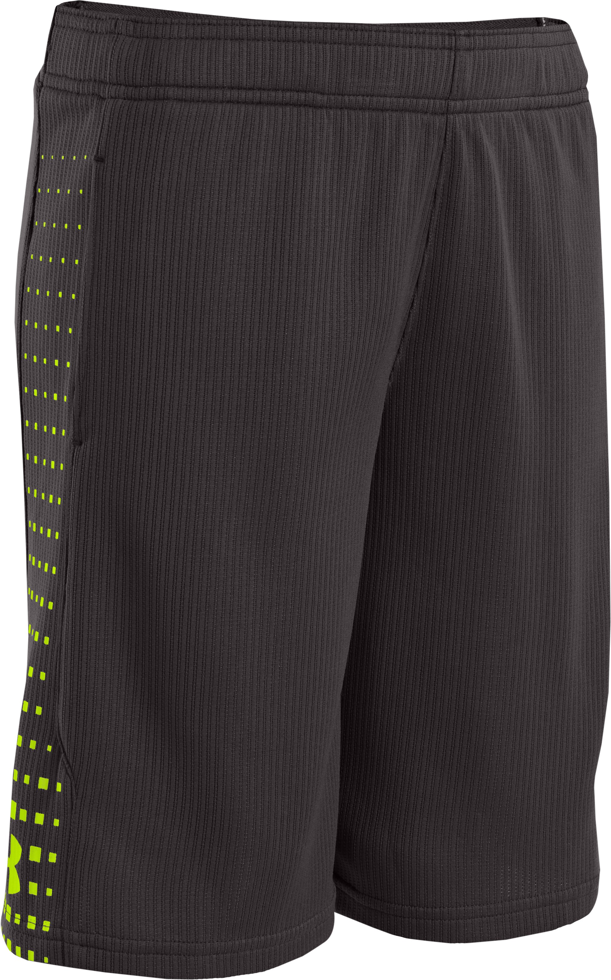 Boys' UA Done Done Done Shorts, Charcoal, zoomed image