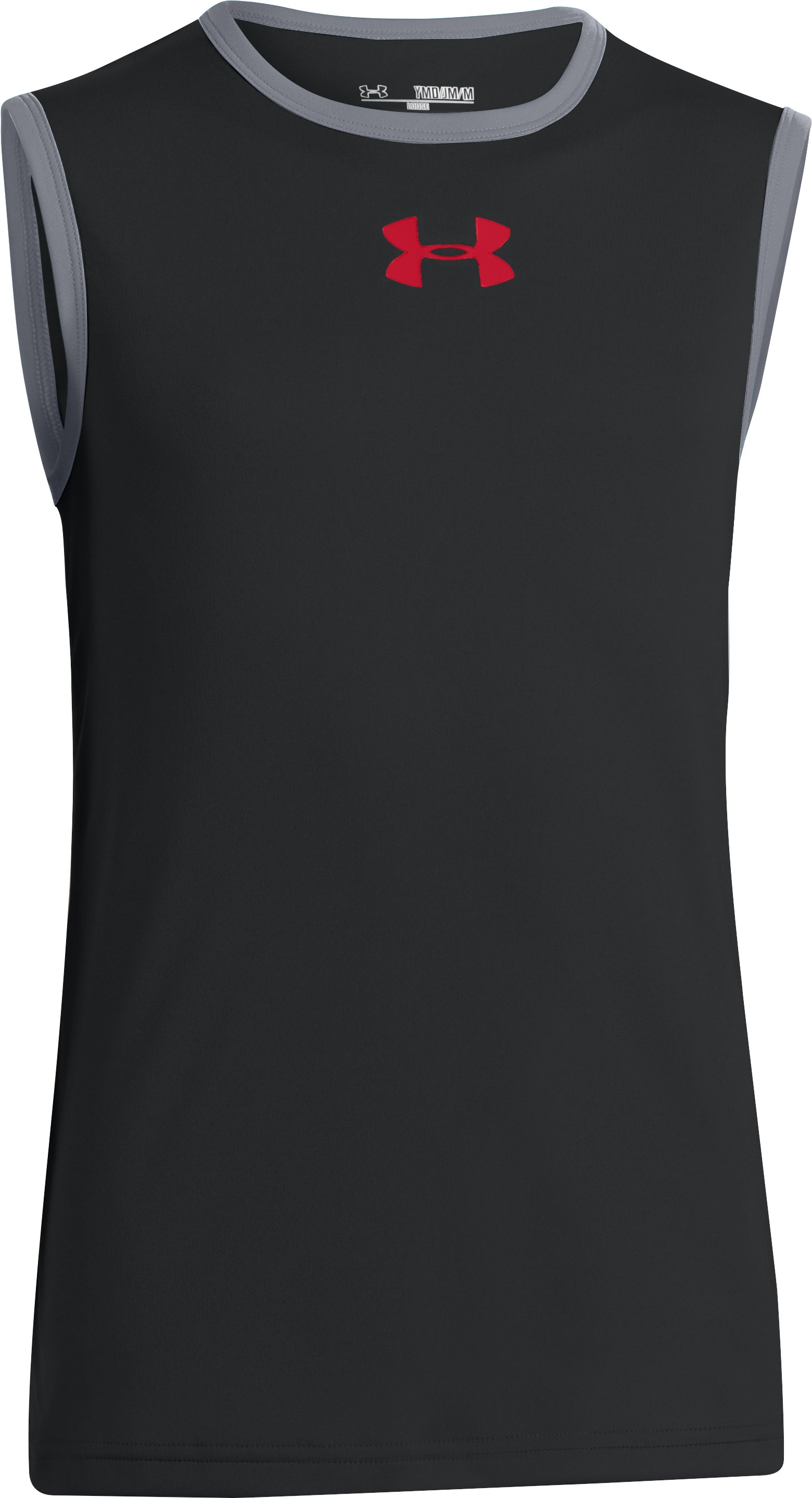 Boys' UA Done Done Done Sleeveless T-Shirt, Black , zoomed image
