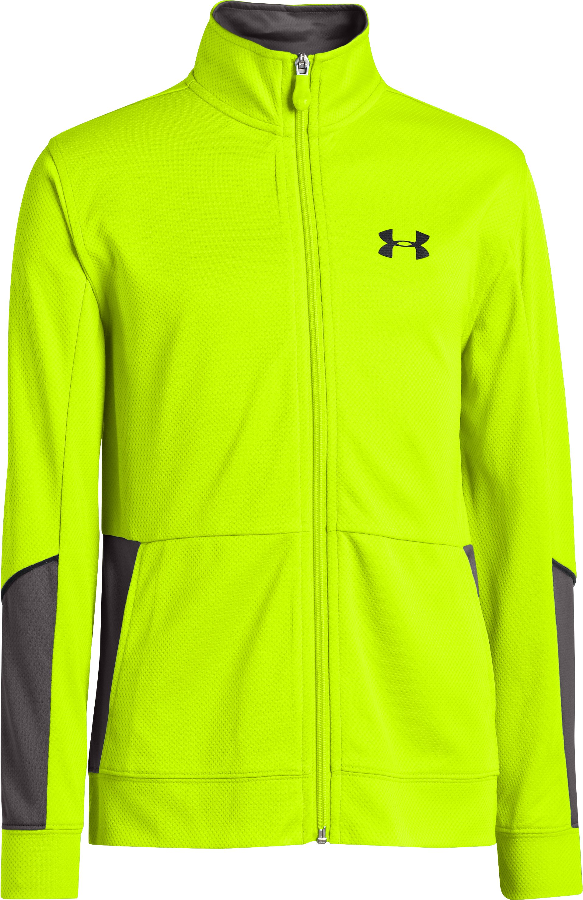 Boys' UA Hero Jacket, High-Vis Yellow, zoomed image