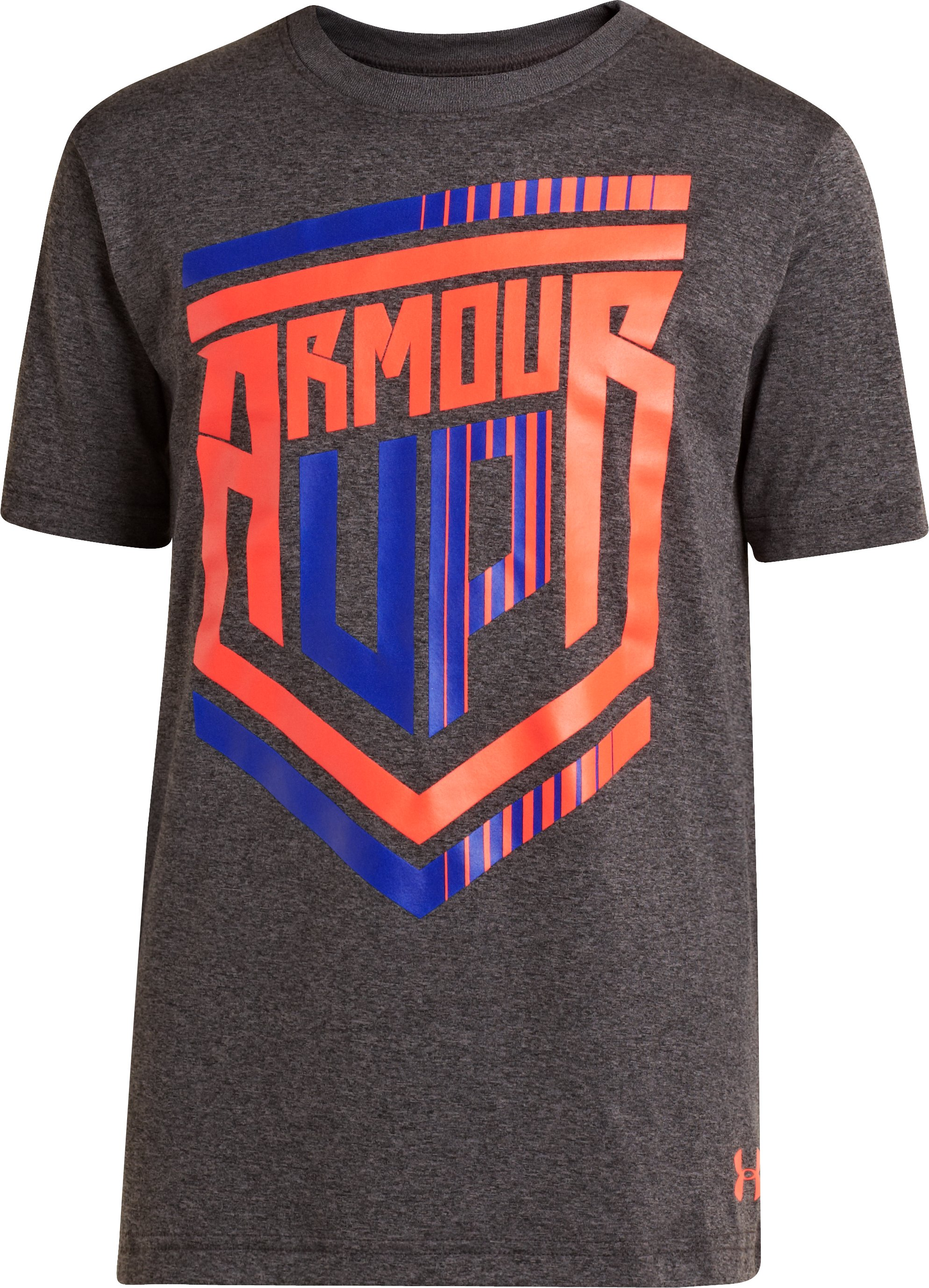 Boys' Armour Up® T-Shirt, Carbon Heather, zoomed image