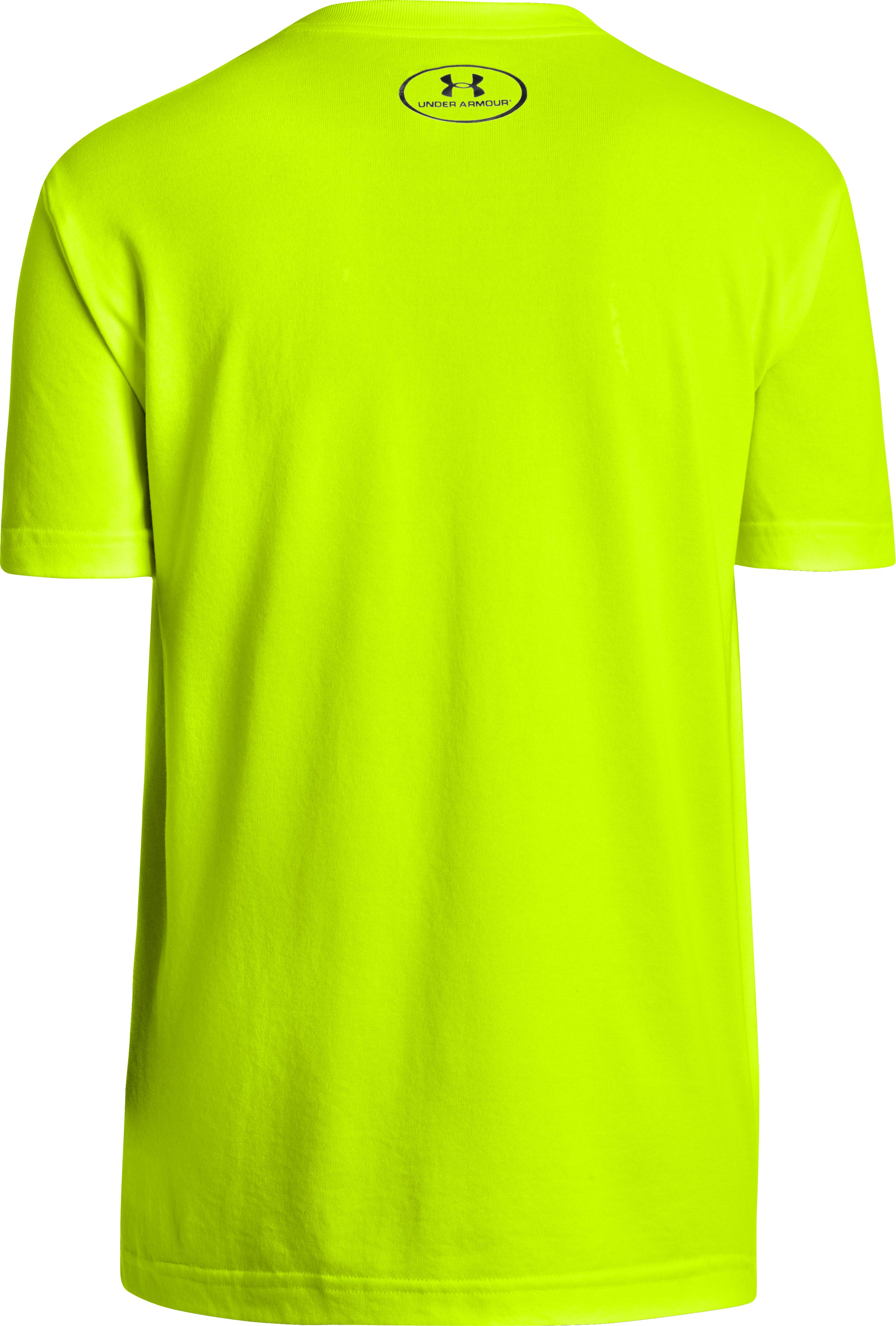 Boys' UA Dominate Everything T-Shirt, High-Vis Yellow, undefined