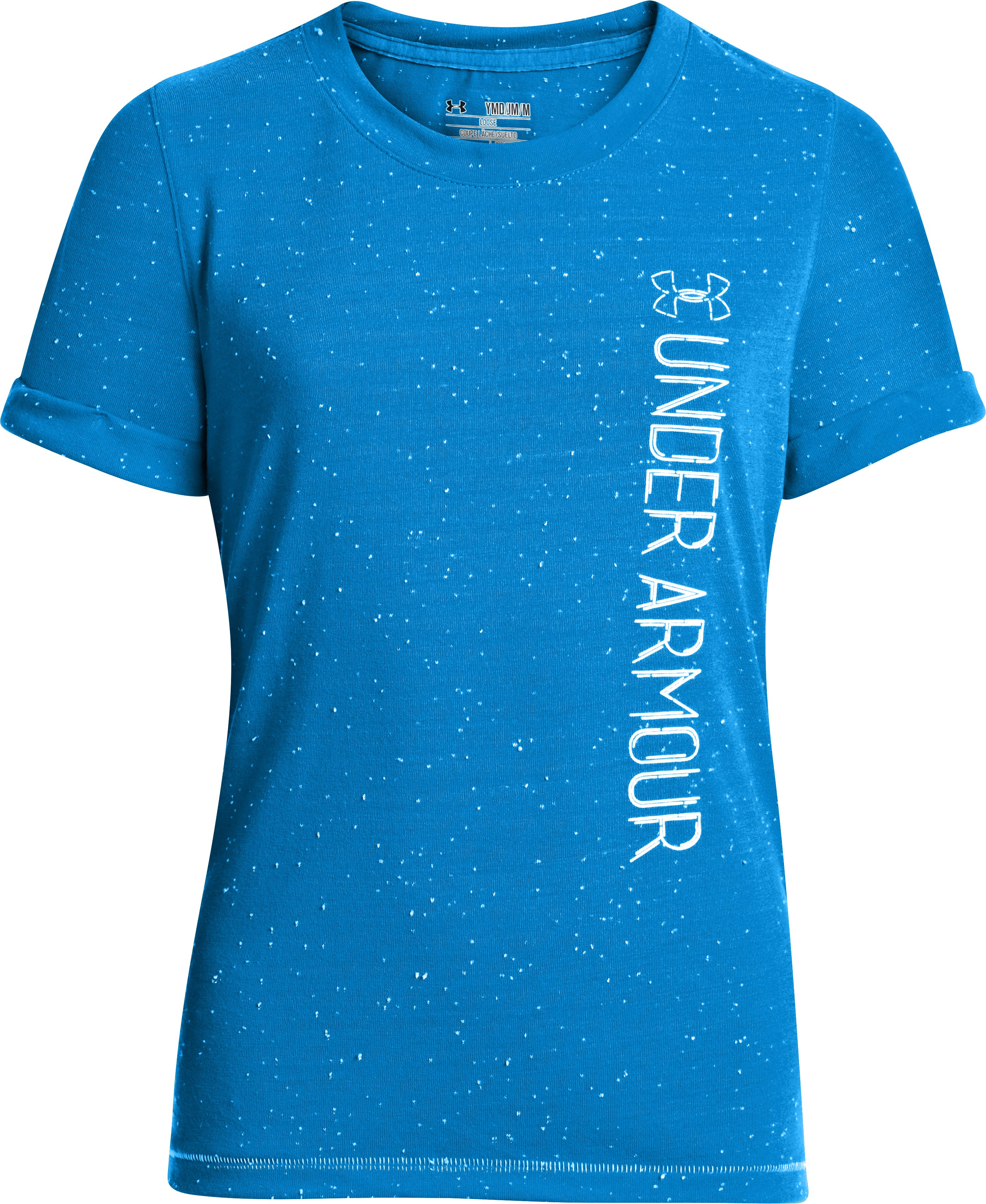 Girls' UA Speckle T-Shirt, ELECTRIC BLUE, undefined