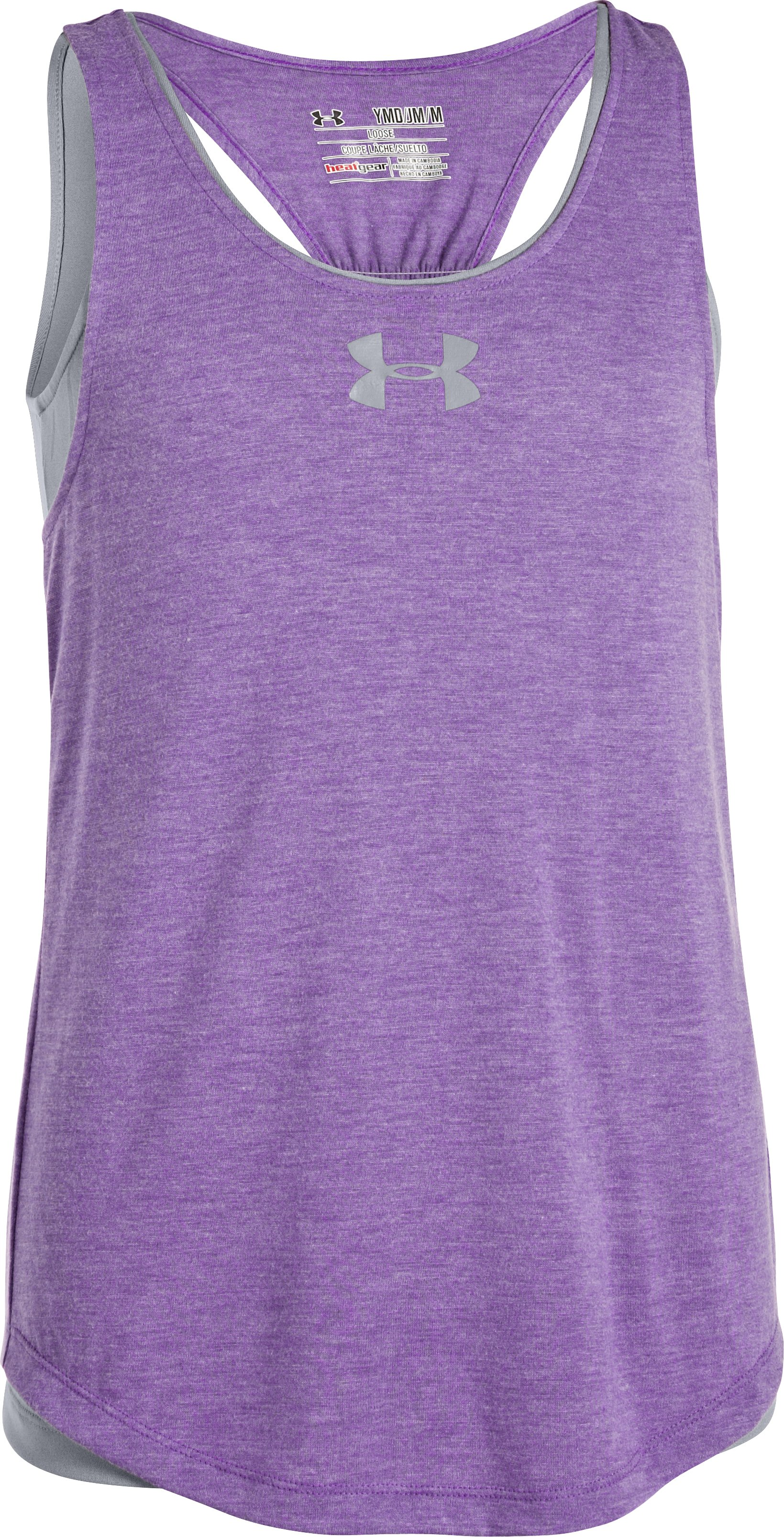 Girls' UA Double The Fun Tank, PRIDE, zoomed image