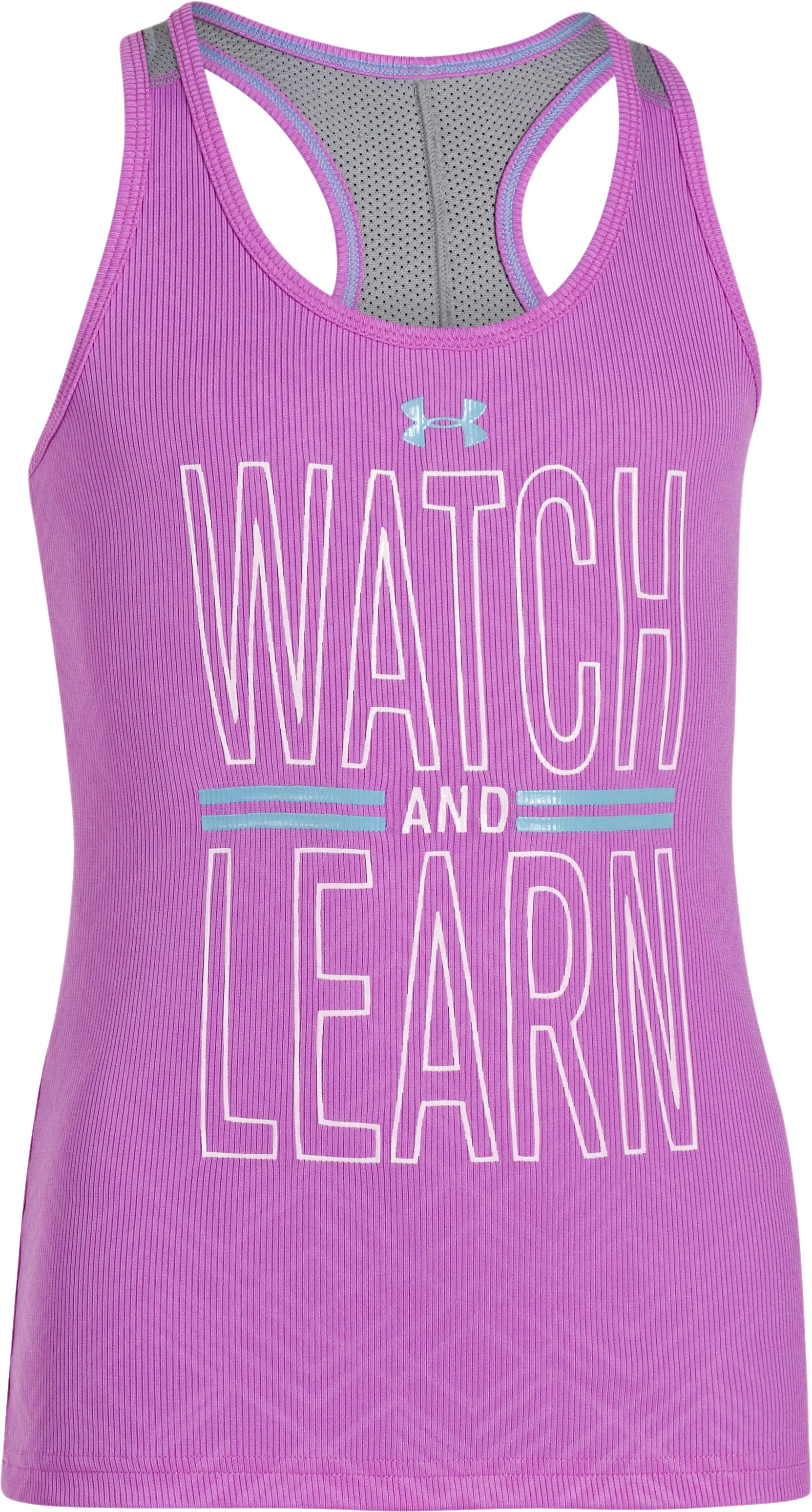 Girls' UA Watch And Learn Tank, EXOTIC BLOOM, zoomed image