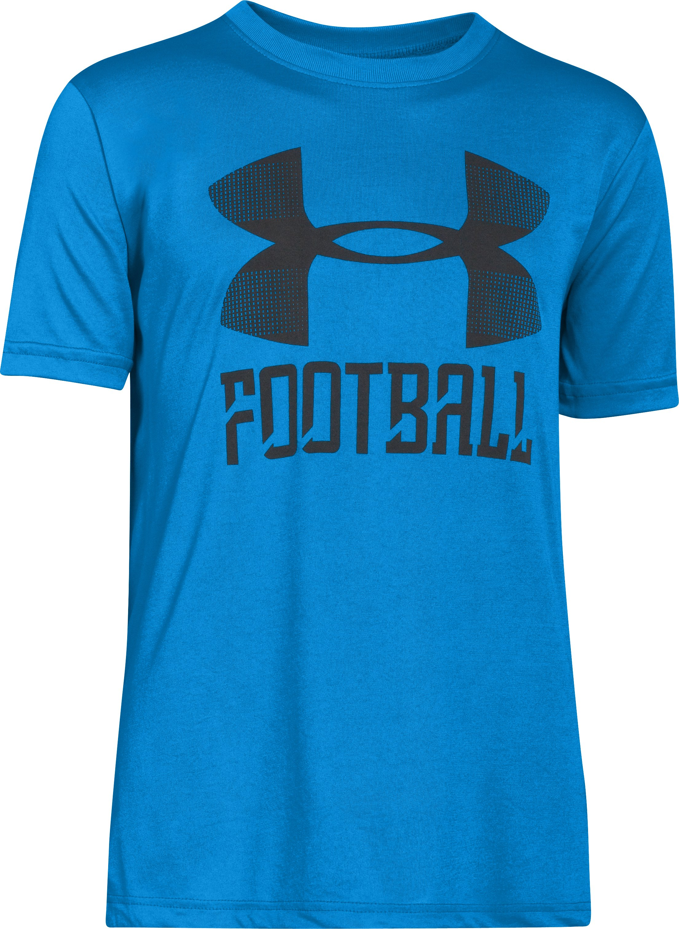 Boys' UA Football Surge T-Shirt, ELECTRIC BLUE