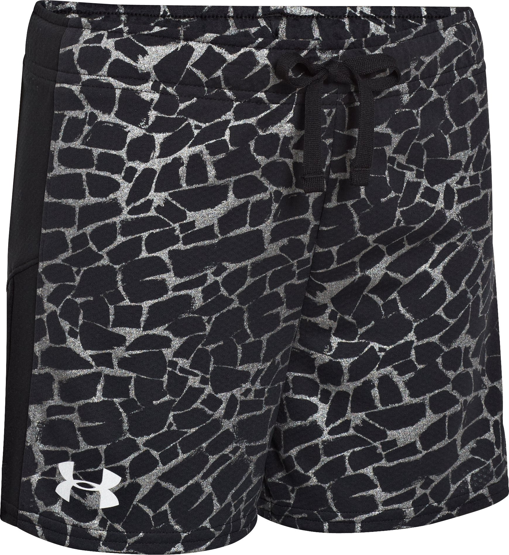 Girls' UA Intensity Print Shorts, Black , zoomed image