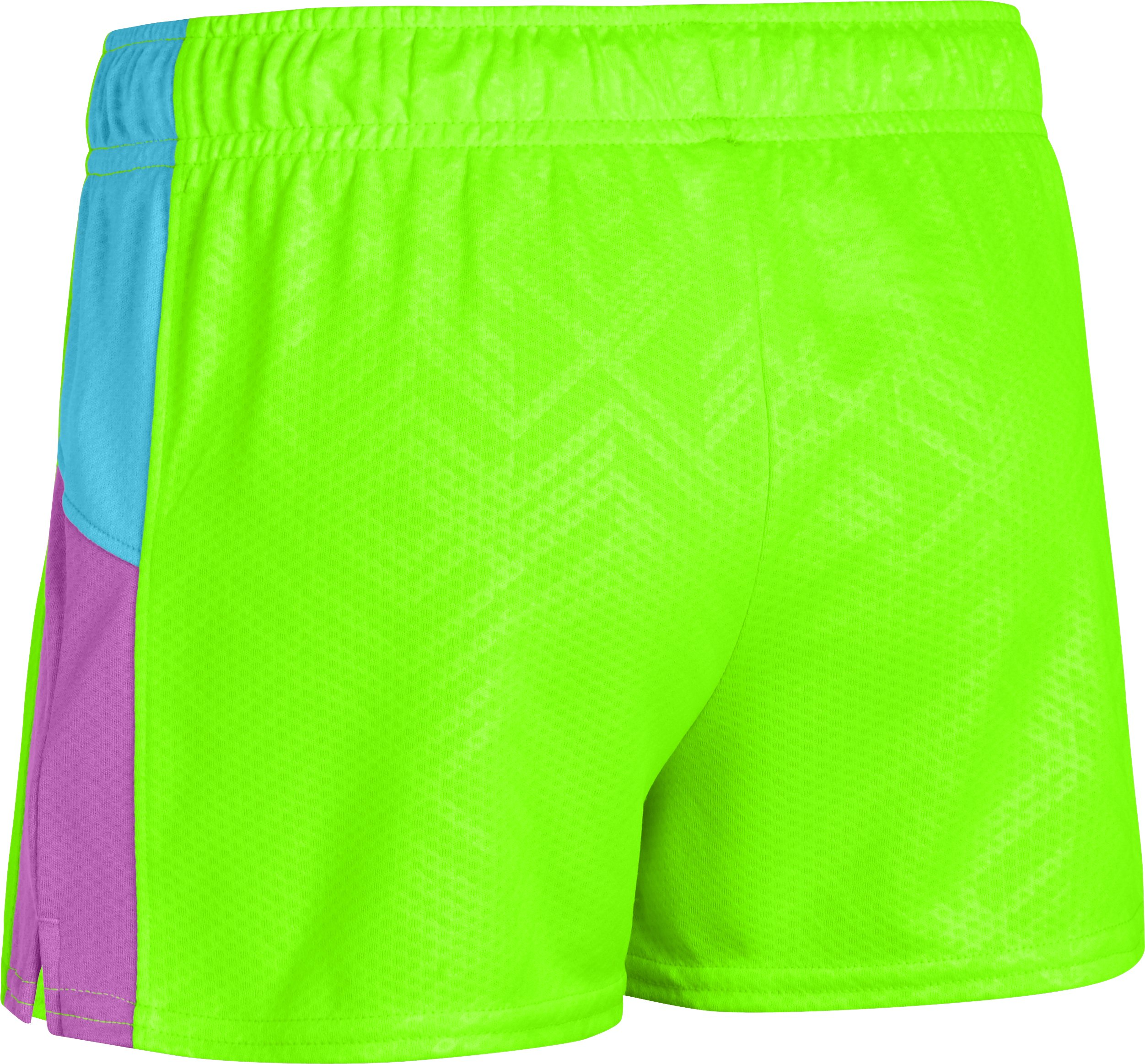 Girls' UA Intensity Print Shorts, HYPER GREEN,