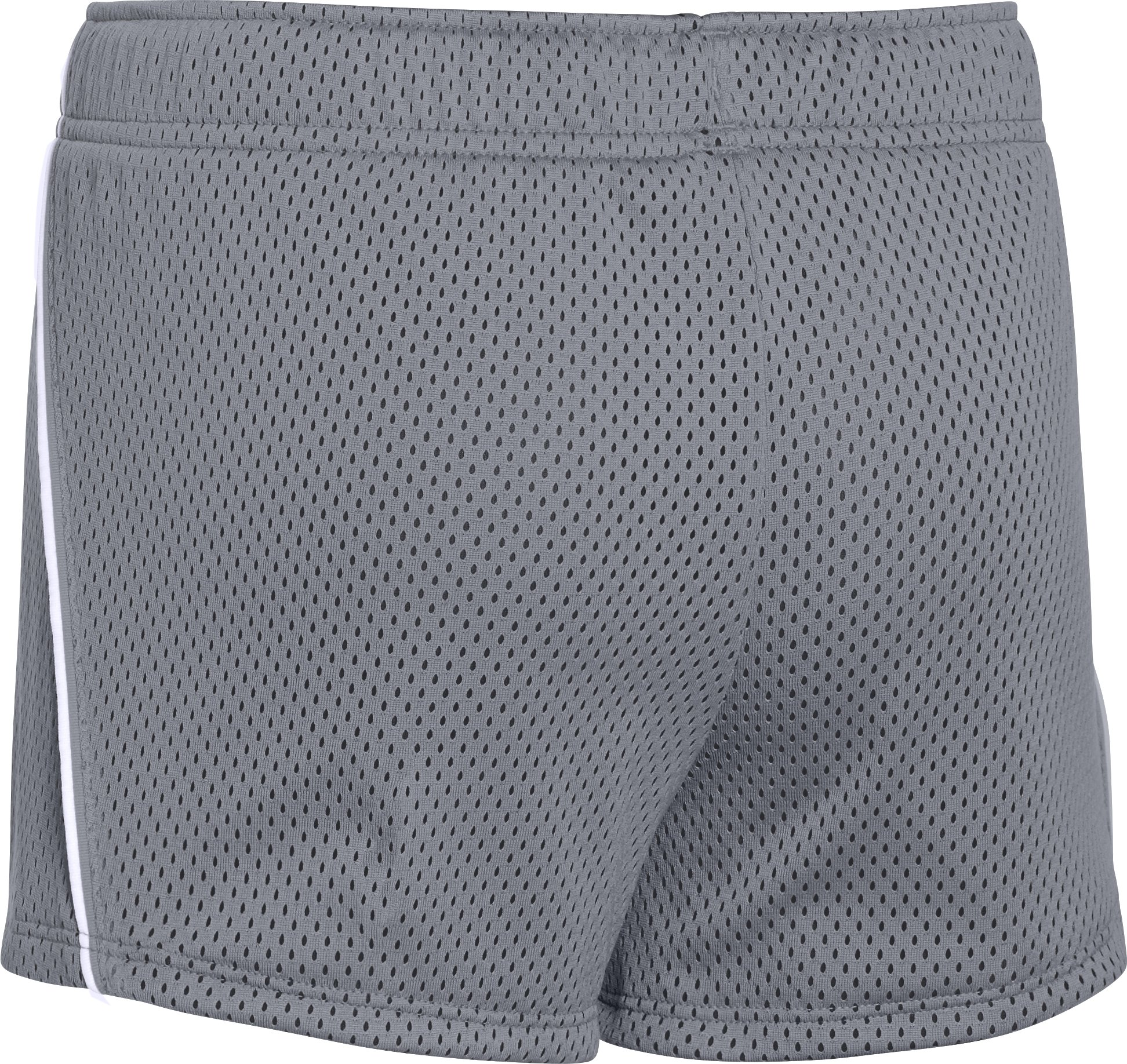 Girls' UA Front Runner Shorts, Steel,