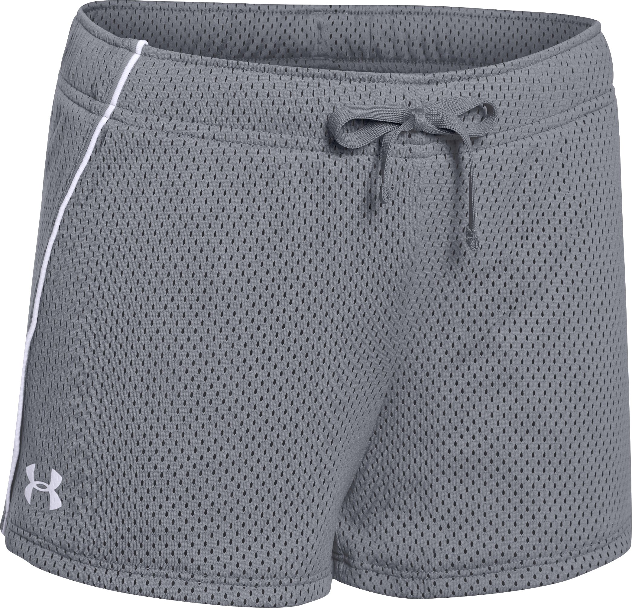 Girls' UA Front Runner Shorts, Steel, zoomed image