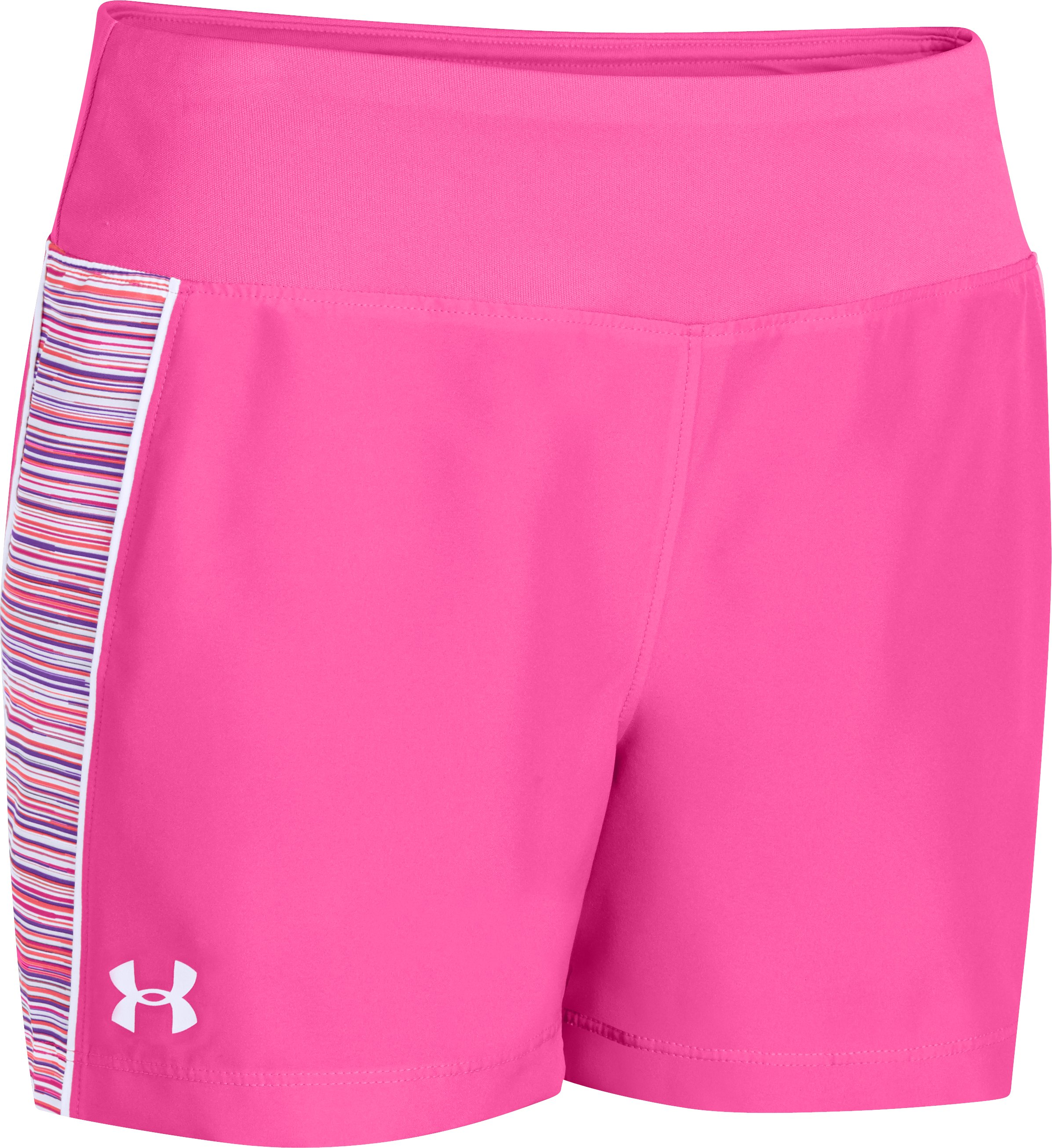 "Girls' UA Move It 3"" Shorts, CHAOS, zoomed image"