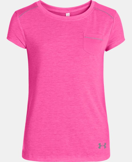 New Arrival  Girls' UA Studio Pocket T-Shirt  1 Color $39.99
