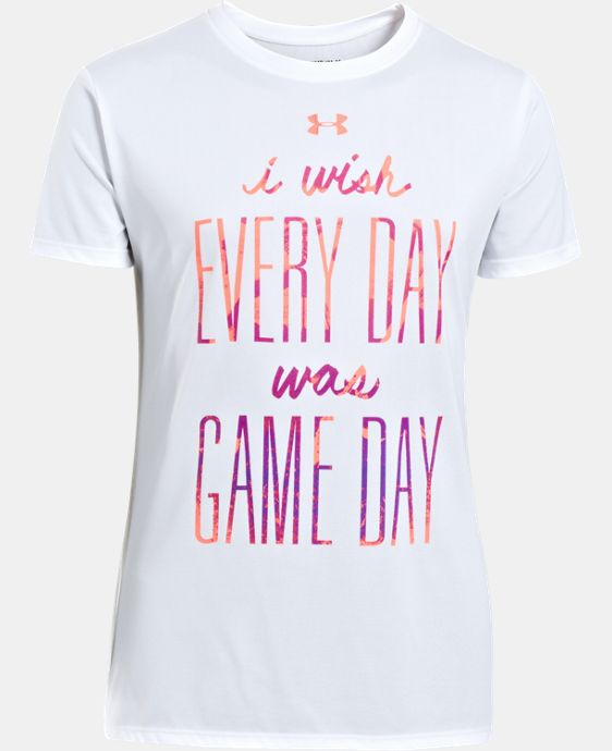 Girls' UA I Wish T-Shirt LIMITED TIME: FREE U.S. SHIPPING 1 Color $14.99