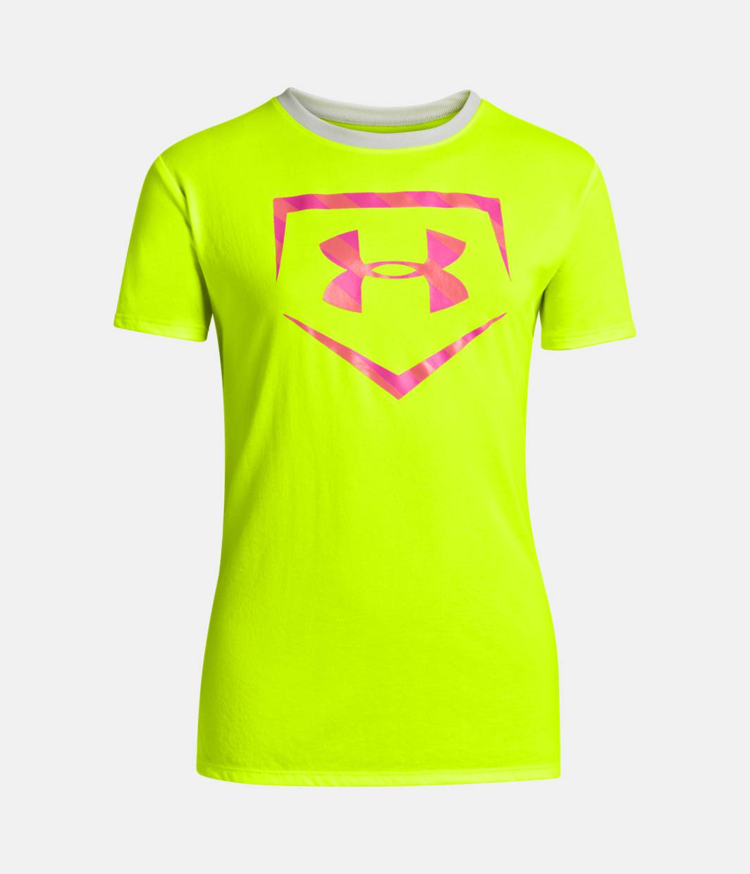 Girls ua live to play softball t shirt under armour us for Softball logos for t shirts