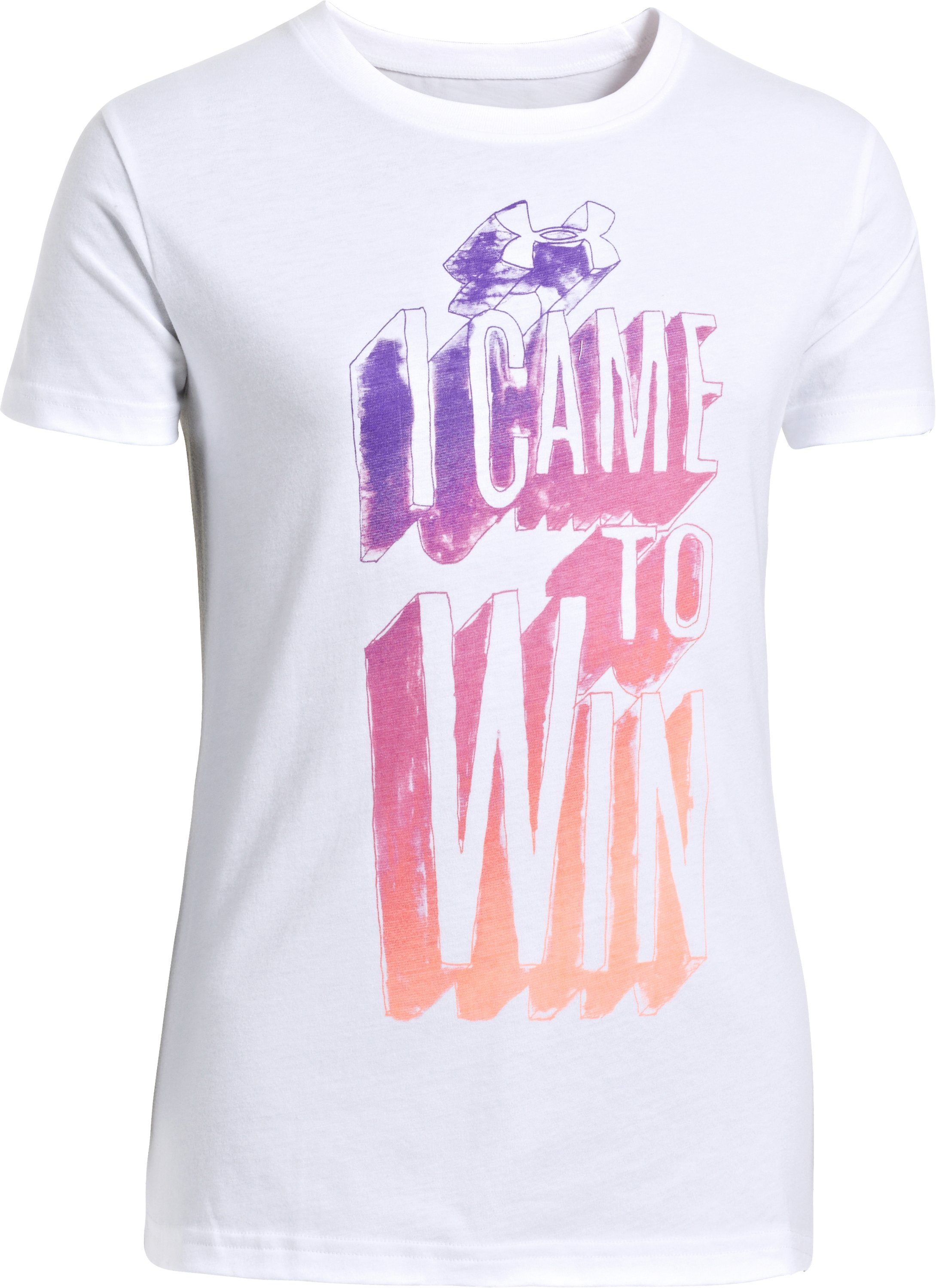 Girls' UA Came To Win Graphic T-Shirt, White, zoomed image