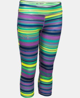 Girls' HeatGear® Armour Printed Capri  3 Colors $20.99 to $26.99
