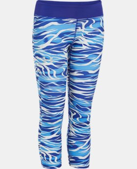 Girls' HeatGear® Armour Printed Capri  1 Color $20.99 to $25.99