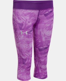 Girls' HeatGear® Armour Printed Capri LIMITED TIME: FREE U.S. SHIPPING 2 Colors $20.24 to $25.99