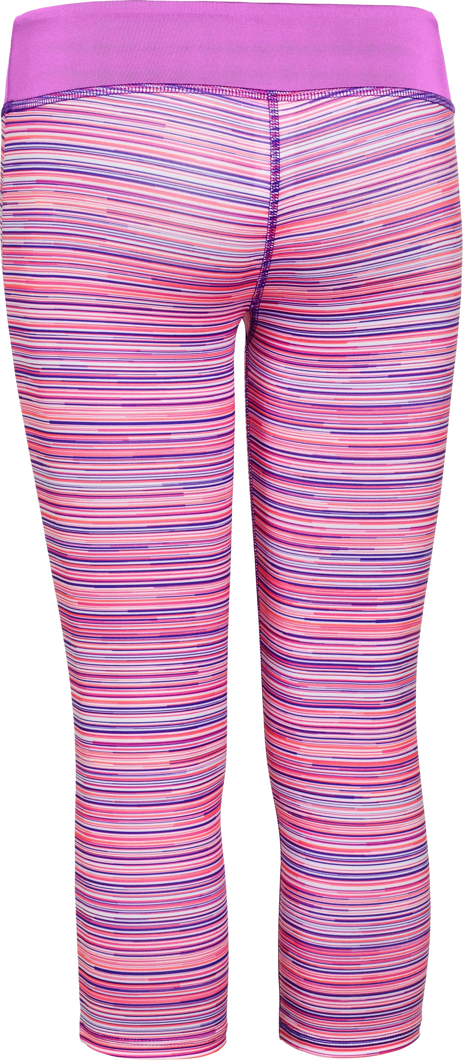 Girls' HeatGear® Armour Printed Capri, BRILLIANCE, undefined
