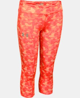 Girls' HeatGear® Armour Printed Capri  1 Color $25.99 to $26.99