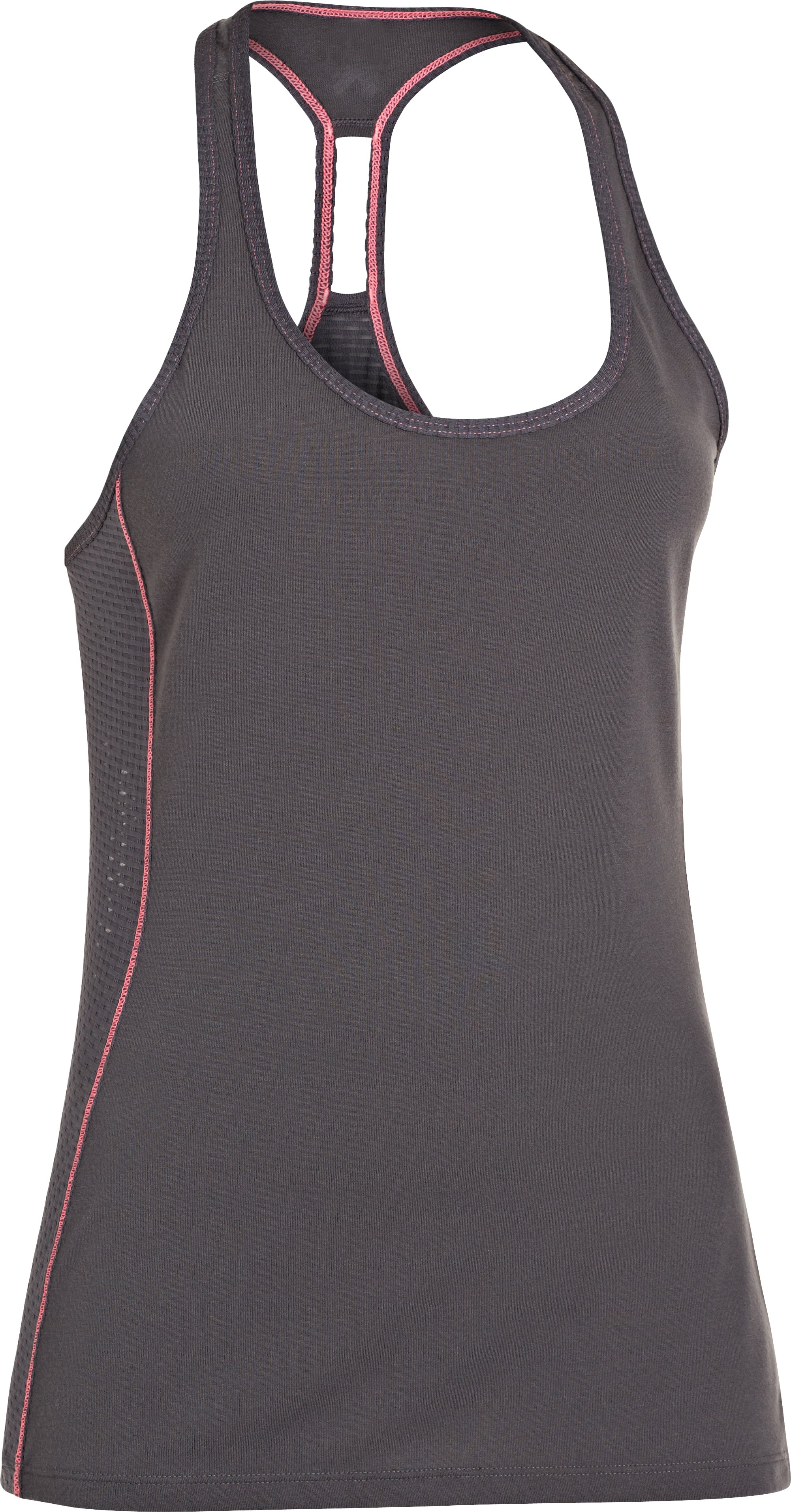 Women's UA Fly-By Stretch Mesh Tank, Lead