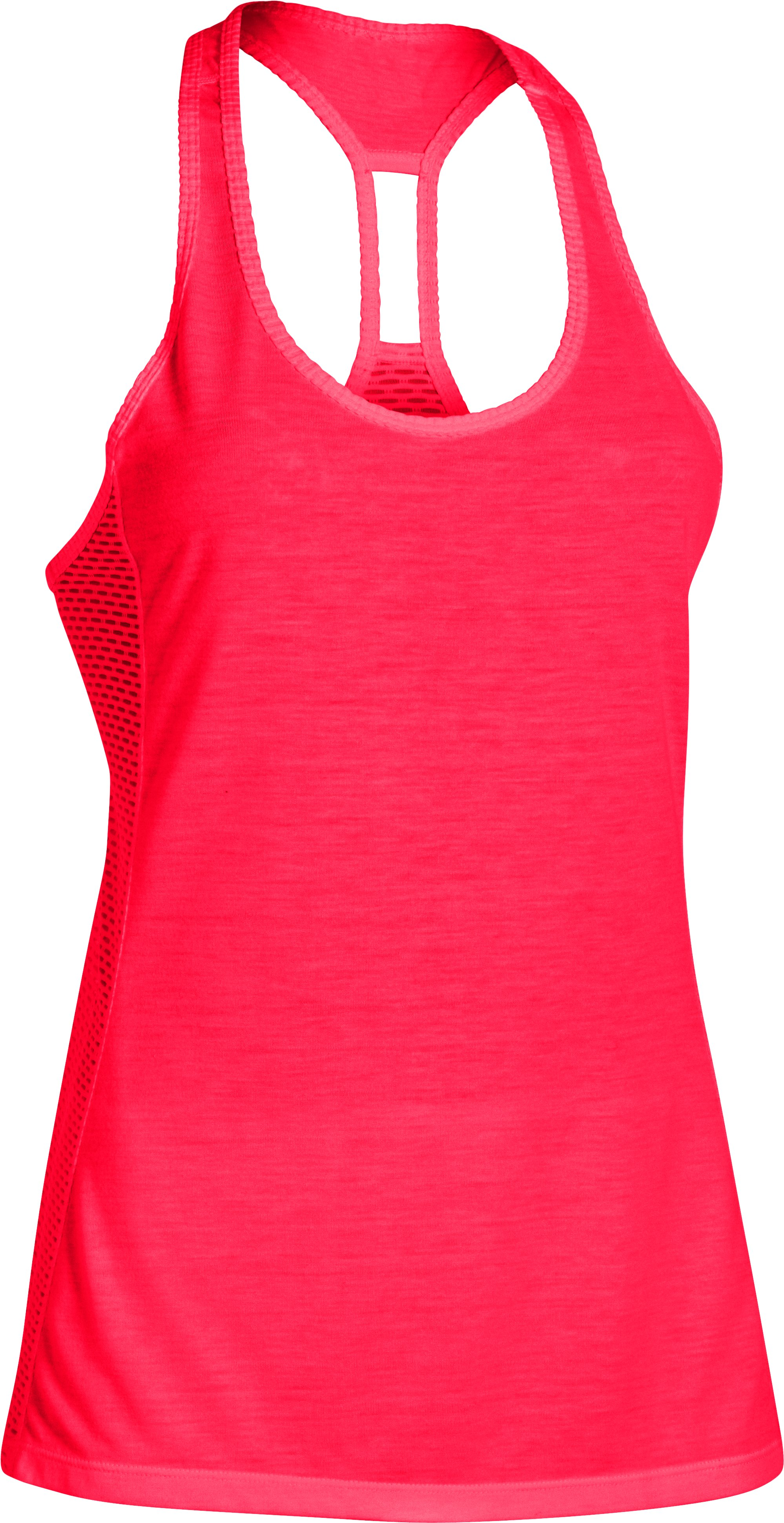 Women's UA Fly-By Stretch Mesh Tank, Neo Pulse,