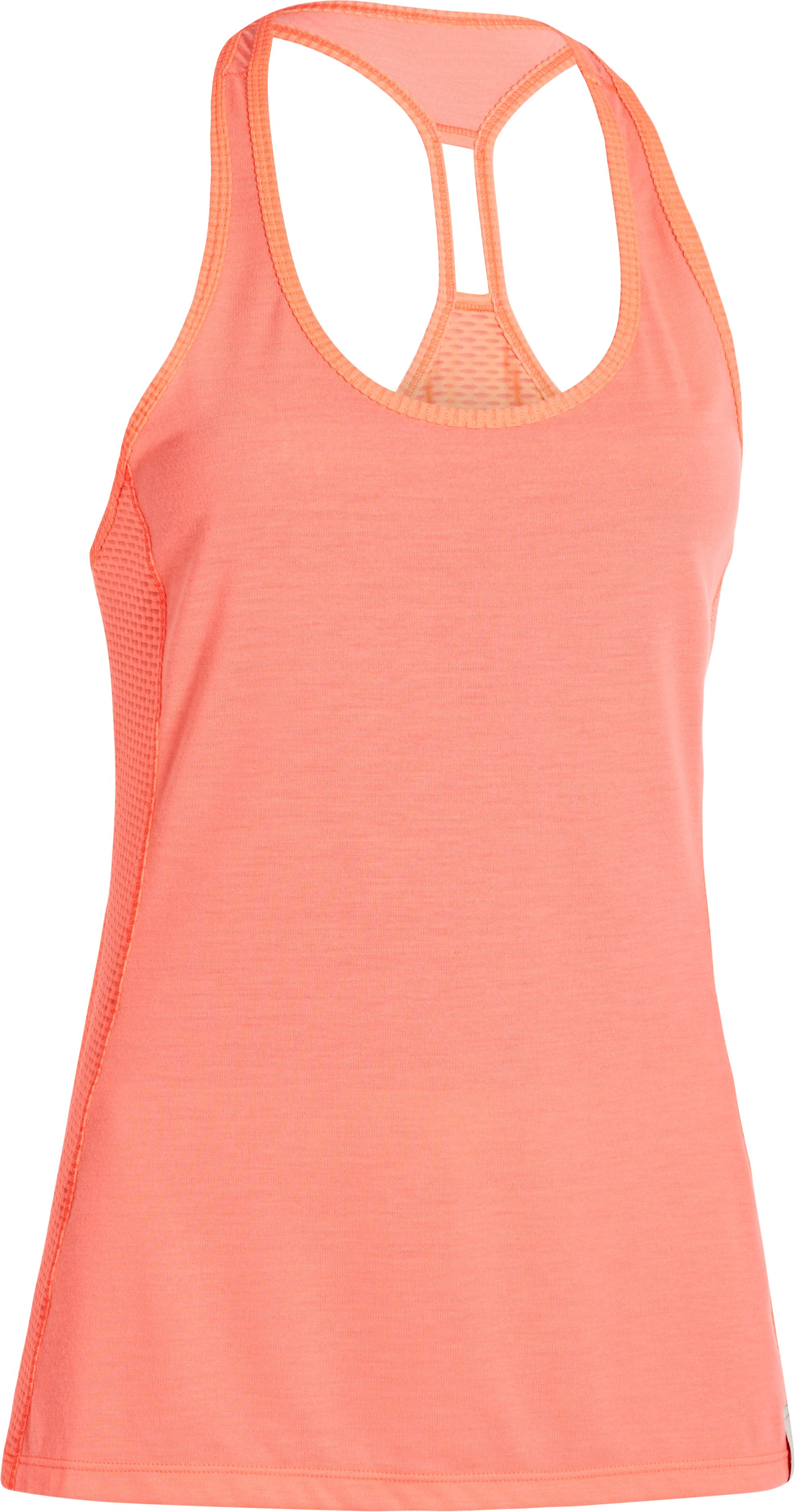 Women's UA Fly-By Stretch Mesh Tank, BRILLIANCE