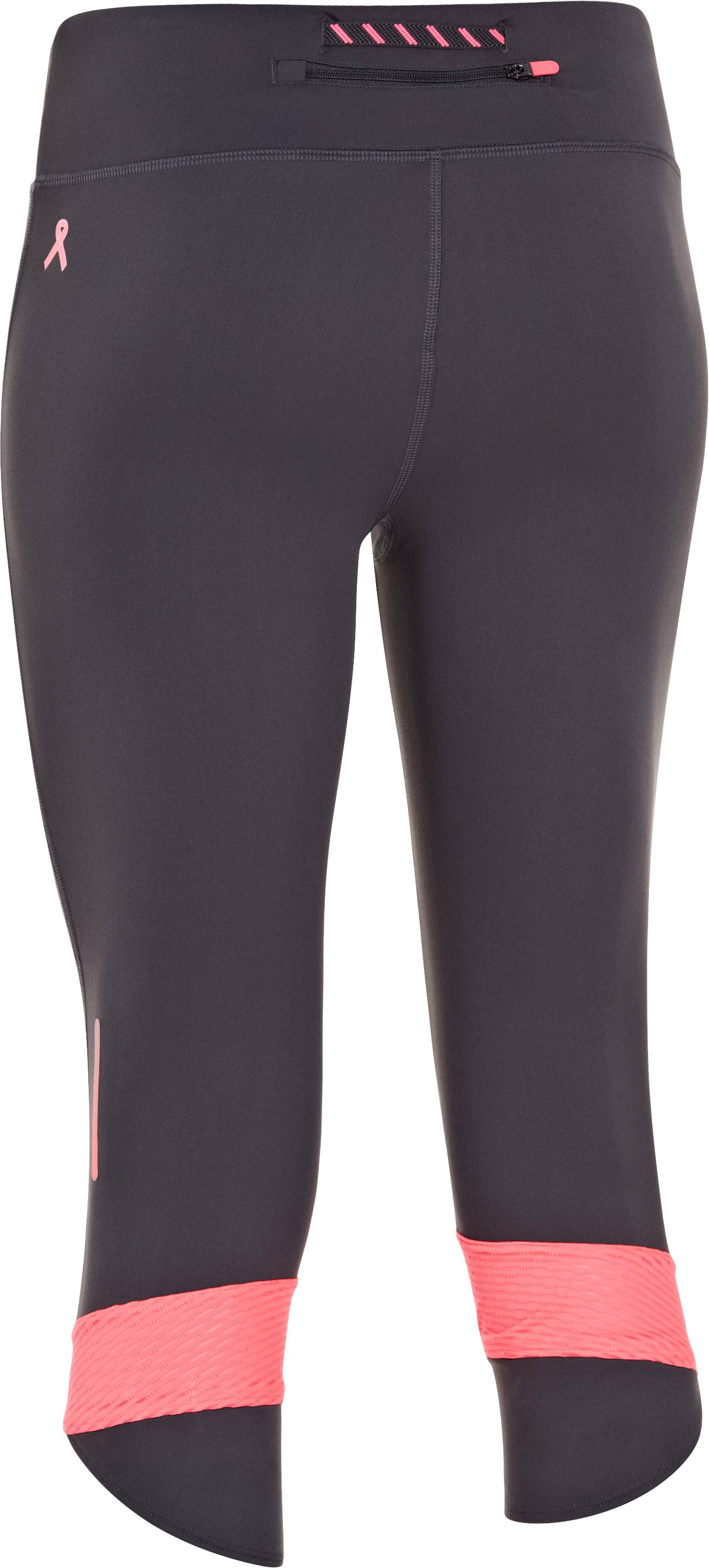 Women's UA Fly-By Compression Capri, Lead, undefined