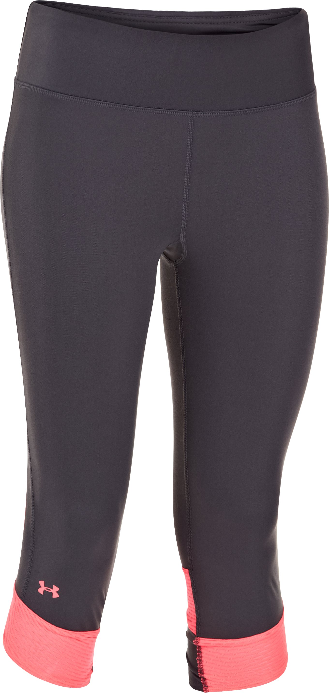 Women's UA Fly-By Compression Capri, Lead,