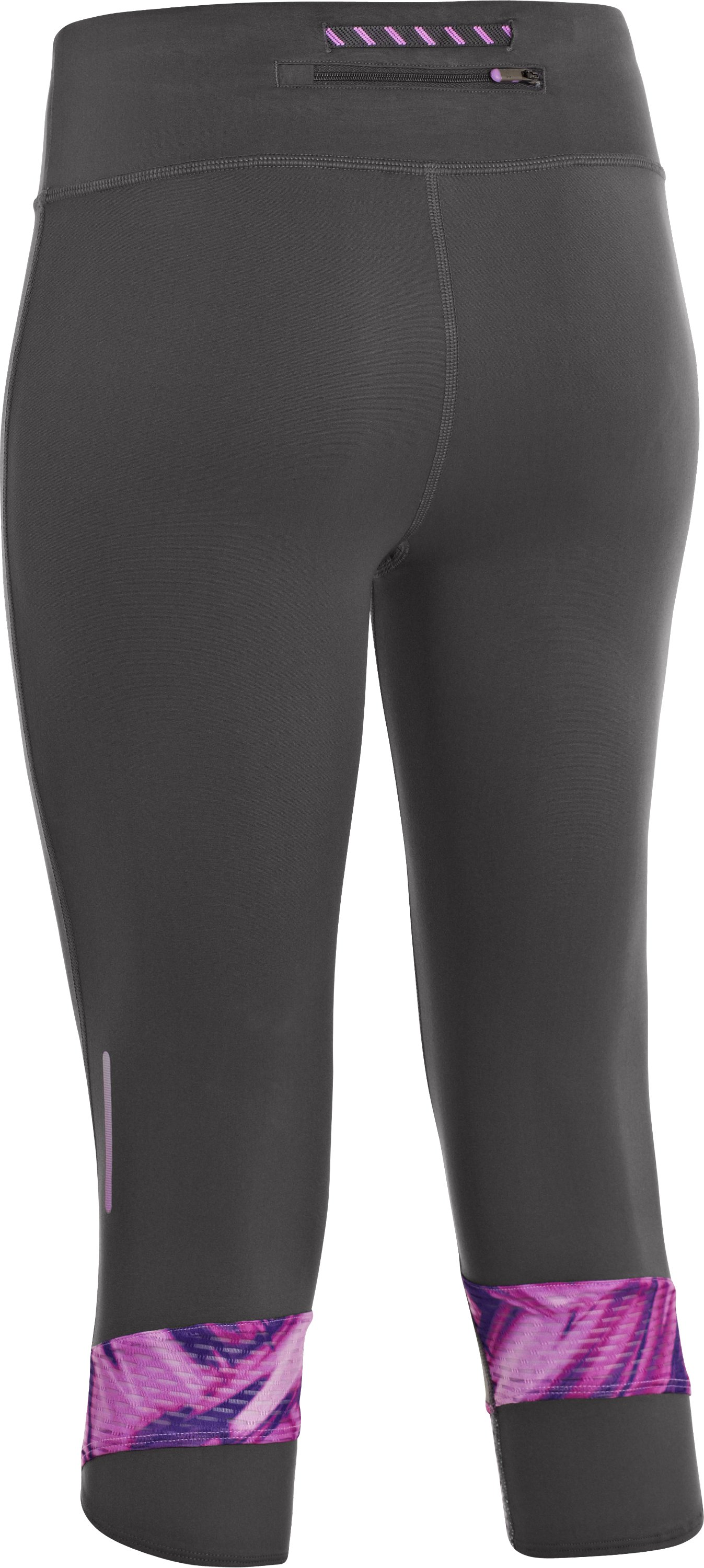 Women's UA Fly-By Compression Capri, Lead