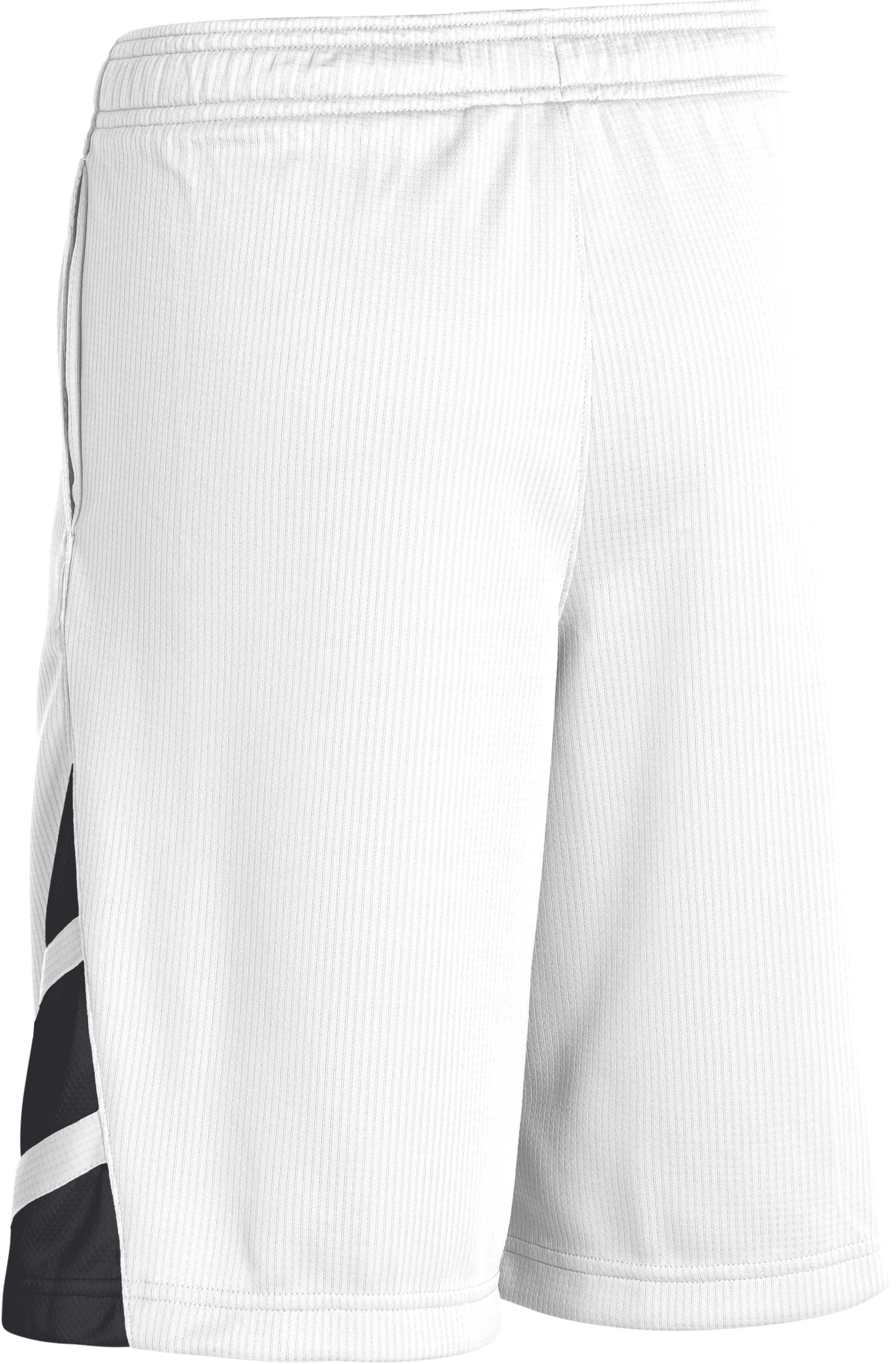 Boys' UA Big Timin Shorts, White, undefined