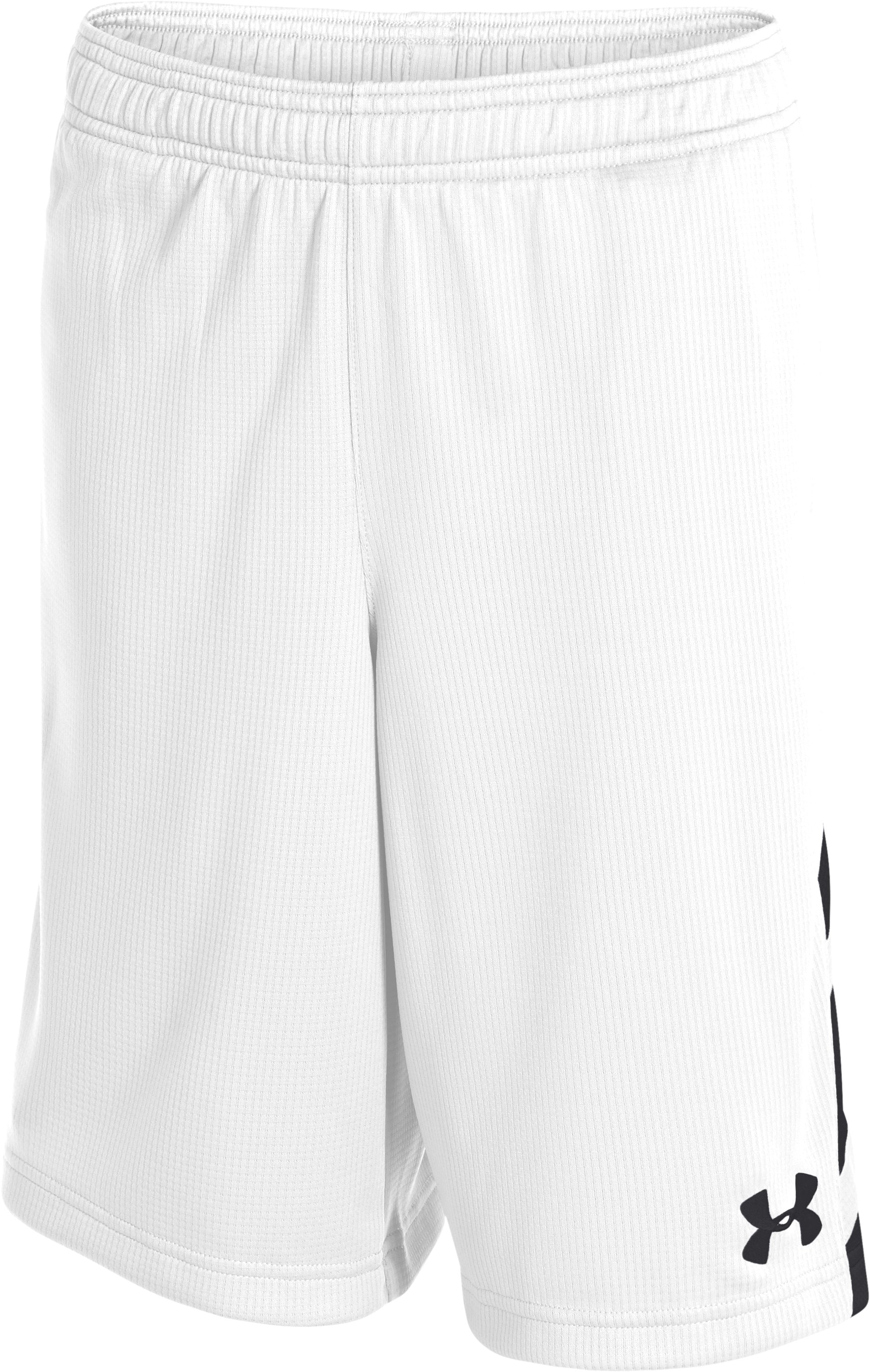 Boys' UA Big Timin Shorts, White