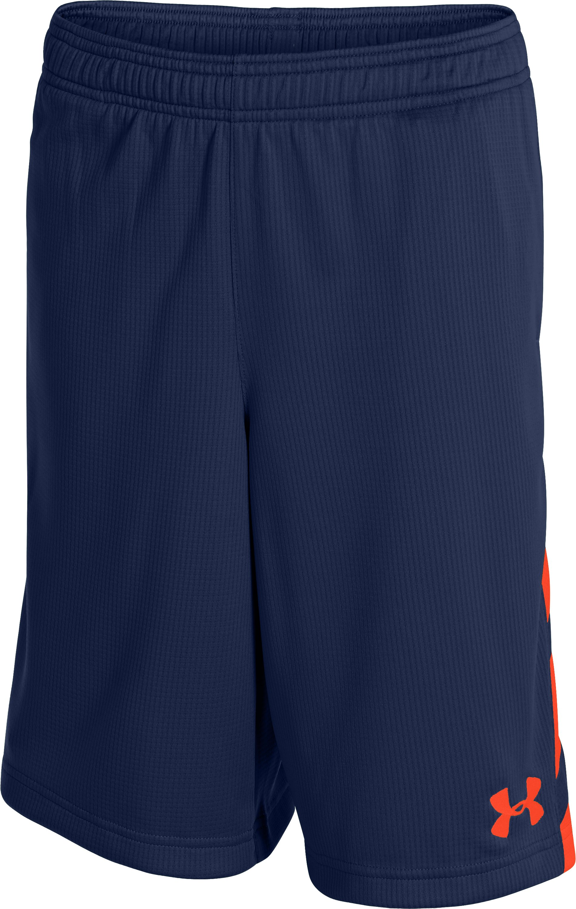 Boys' UA Big Timin Shorts, DEEP SPACE BLUE, zoomed image