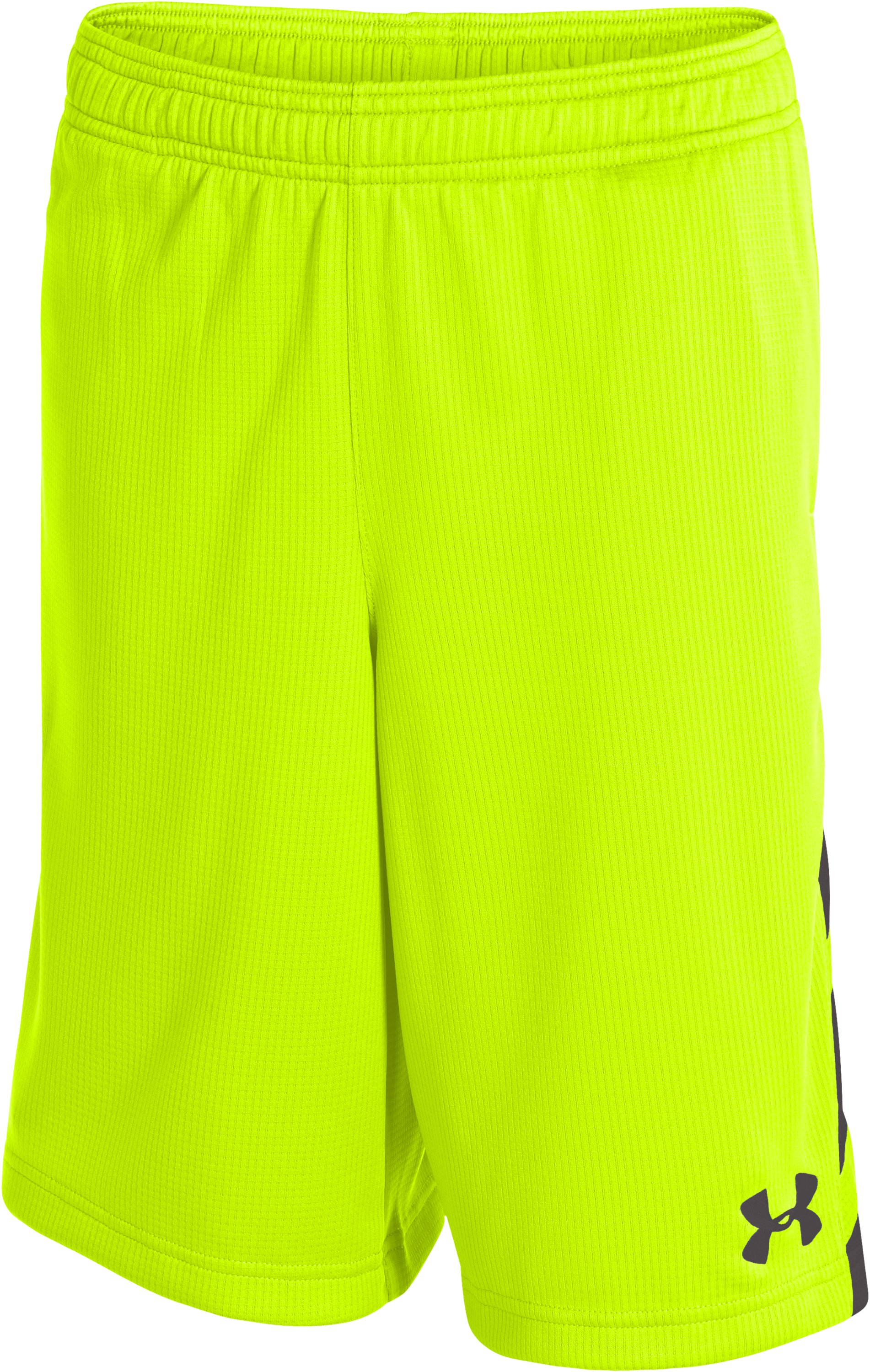 Boys' UA Big Timin Shorts, High-Vis Yellow, zoomed image