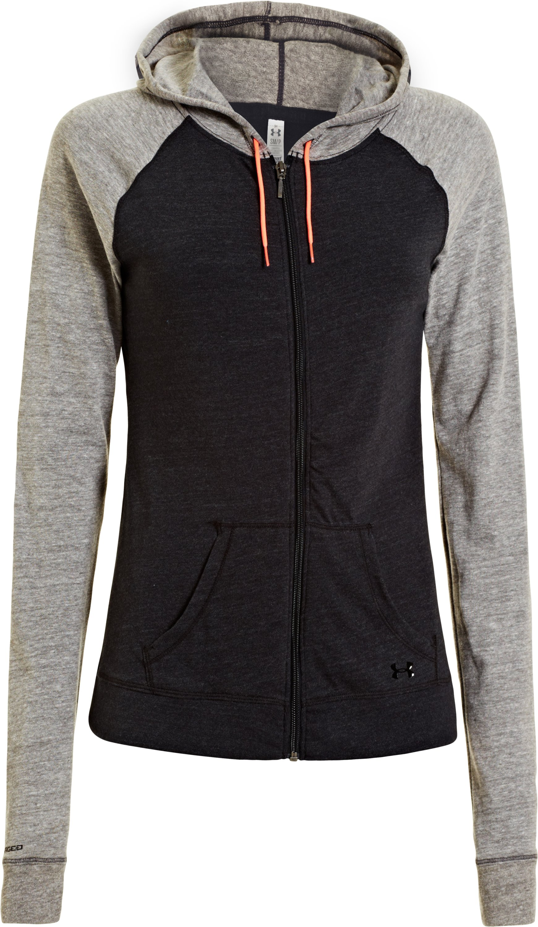 Women's Charged Cotton® Undeniable Full Zip, Black , undefined