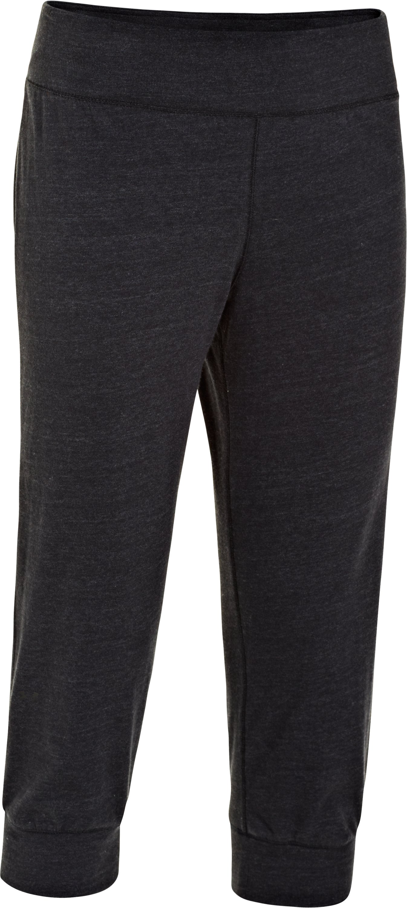 Women's Charged Cotton® Undeniable Capri, Black , undefined