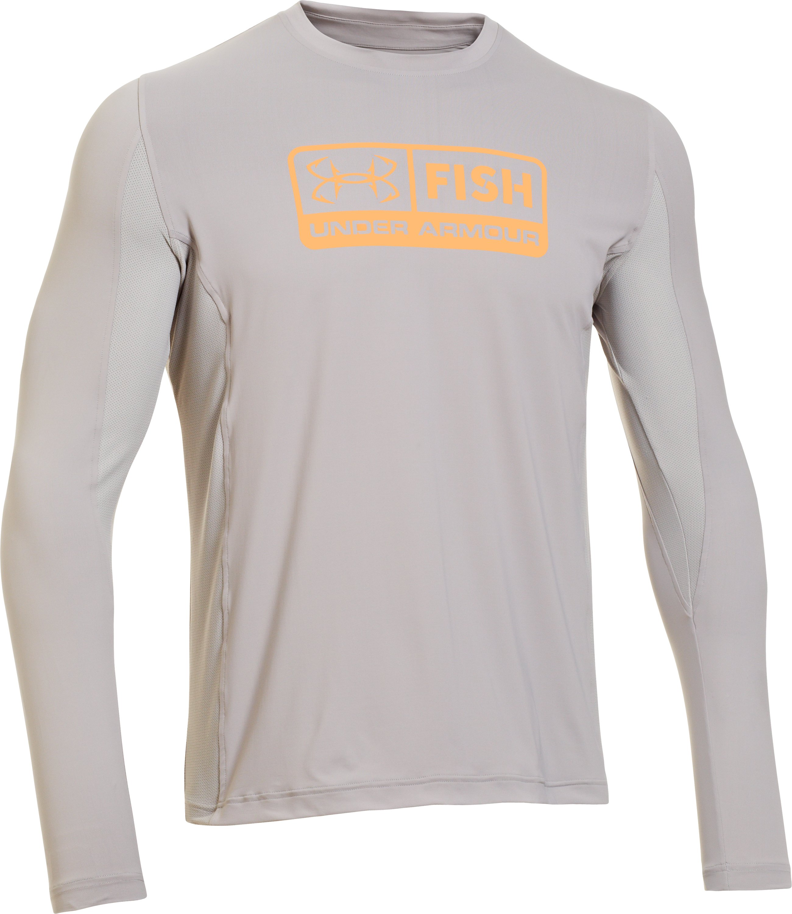 Men's UA Iso-Chill Long Sleeve Shirt, BOULDER, undefined