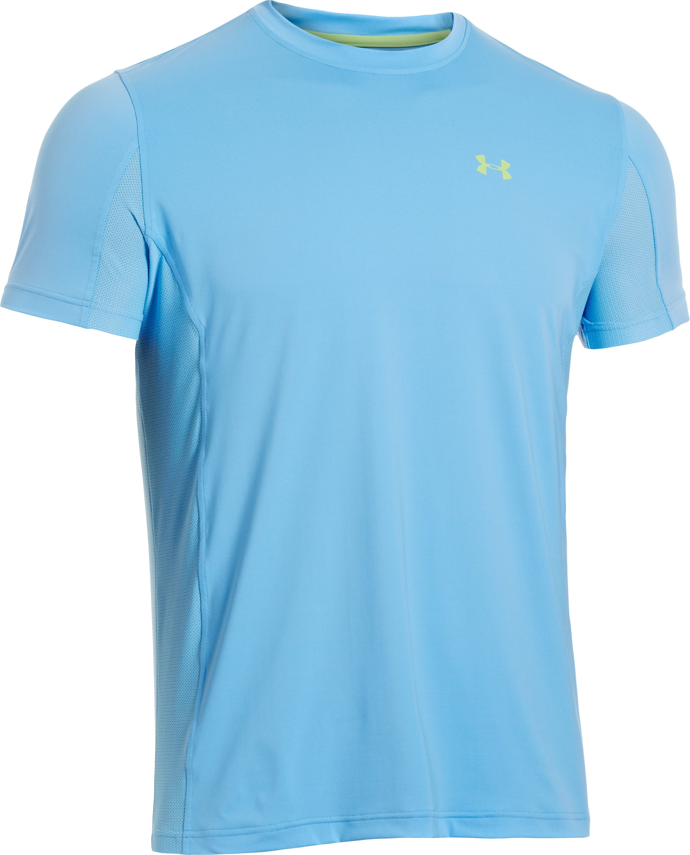 Men's UA Iso-Chill Short Sleeve Shirt, Carolina Blue, undefined