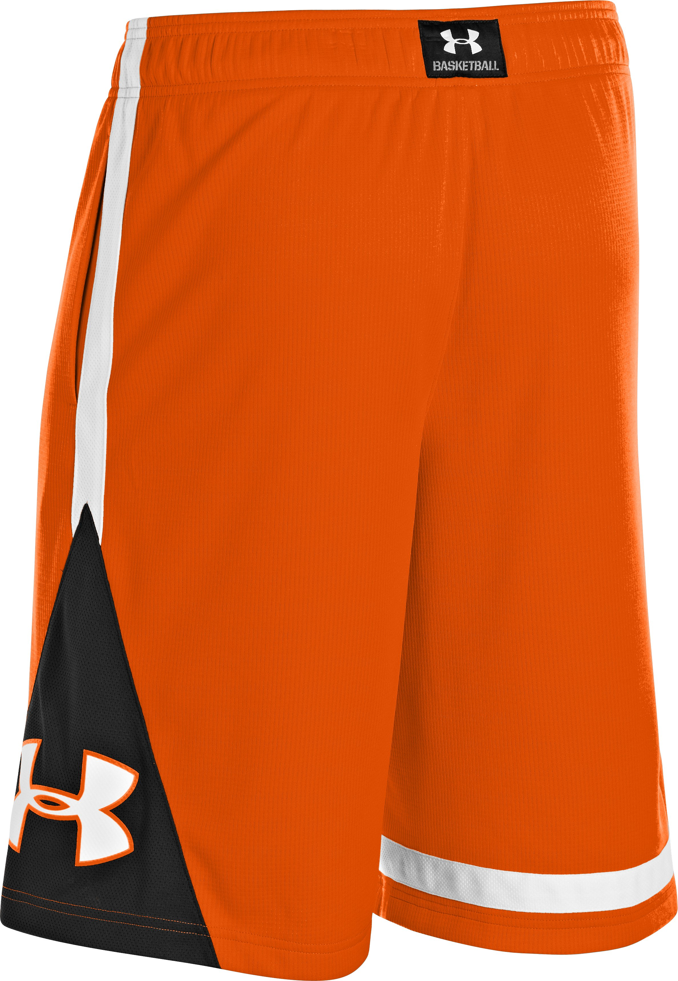 Men's UA Buckwyldn Basketball Shorts, Blaze Orange, undefined