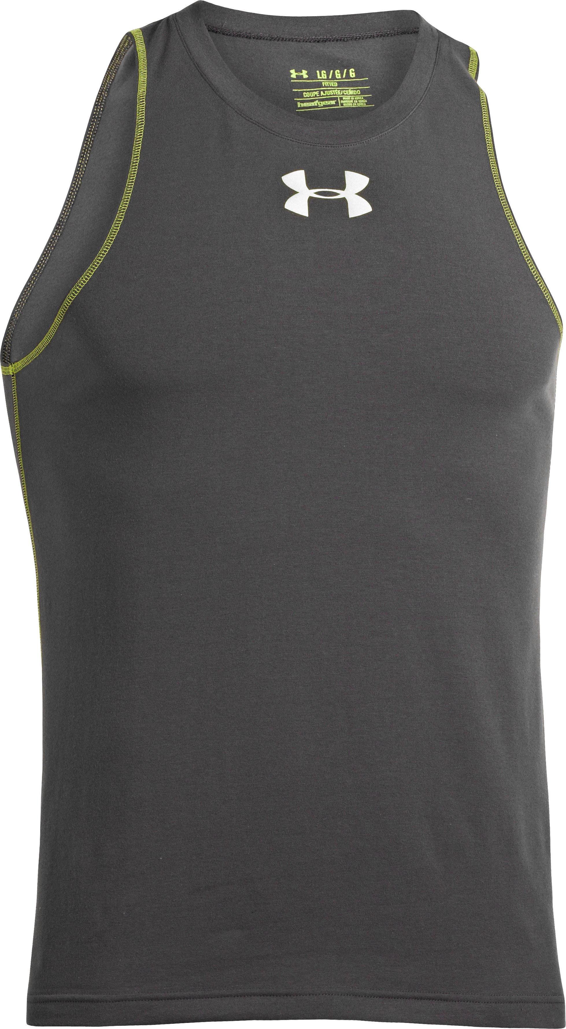 Men's Charged Cotton® Jus Sayin Tank, Charcoal