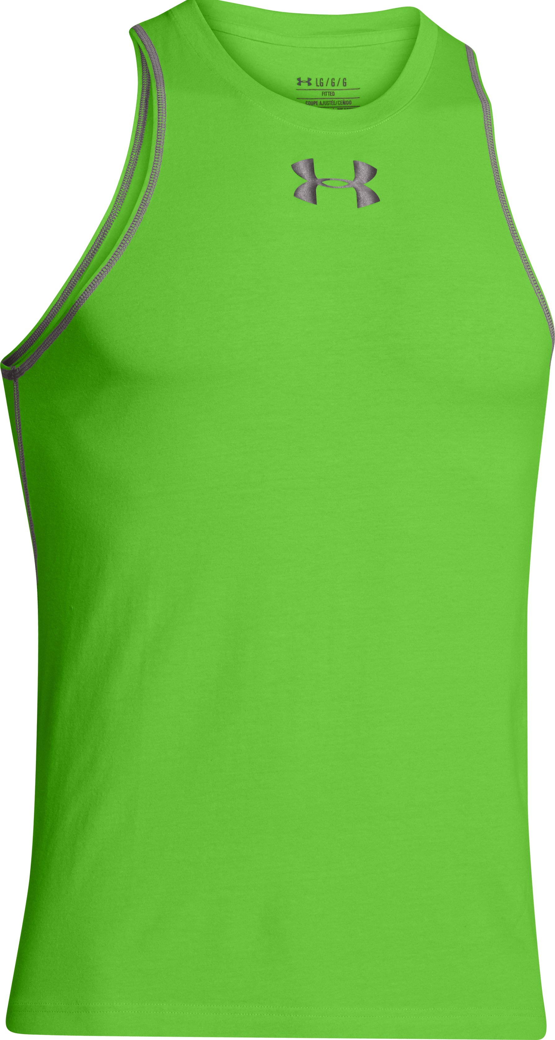 Men's Charged Cotton® Jus Sayin Tank, GECKO GREEN