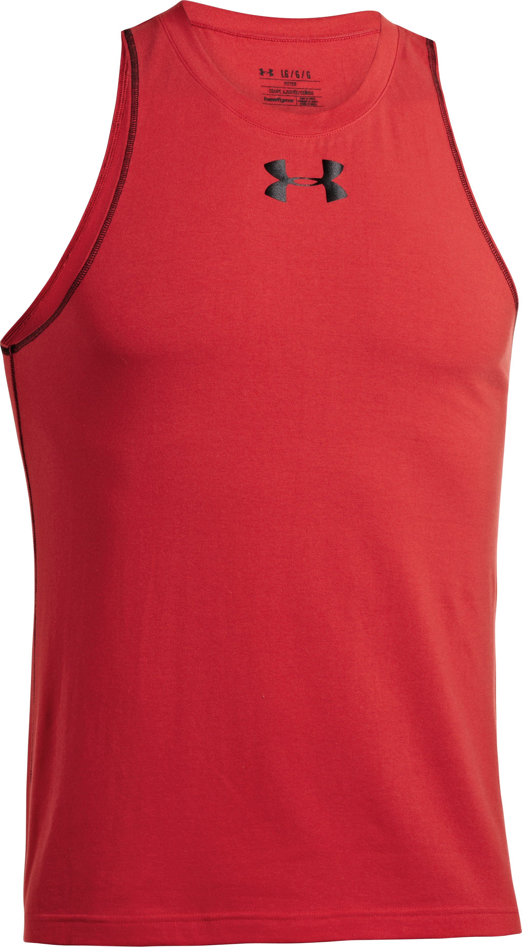 Men's Charged Cotton® Jus Sayin Tank, Red