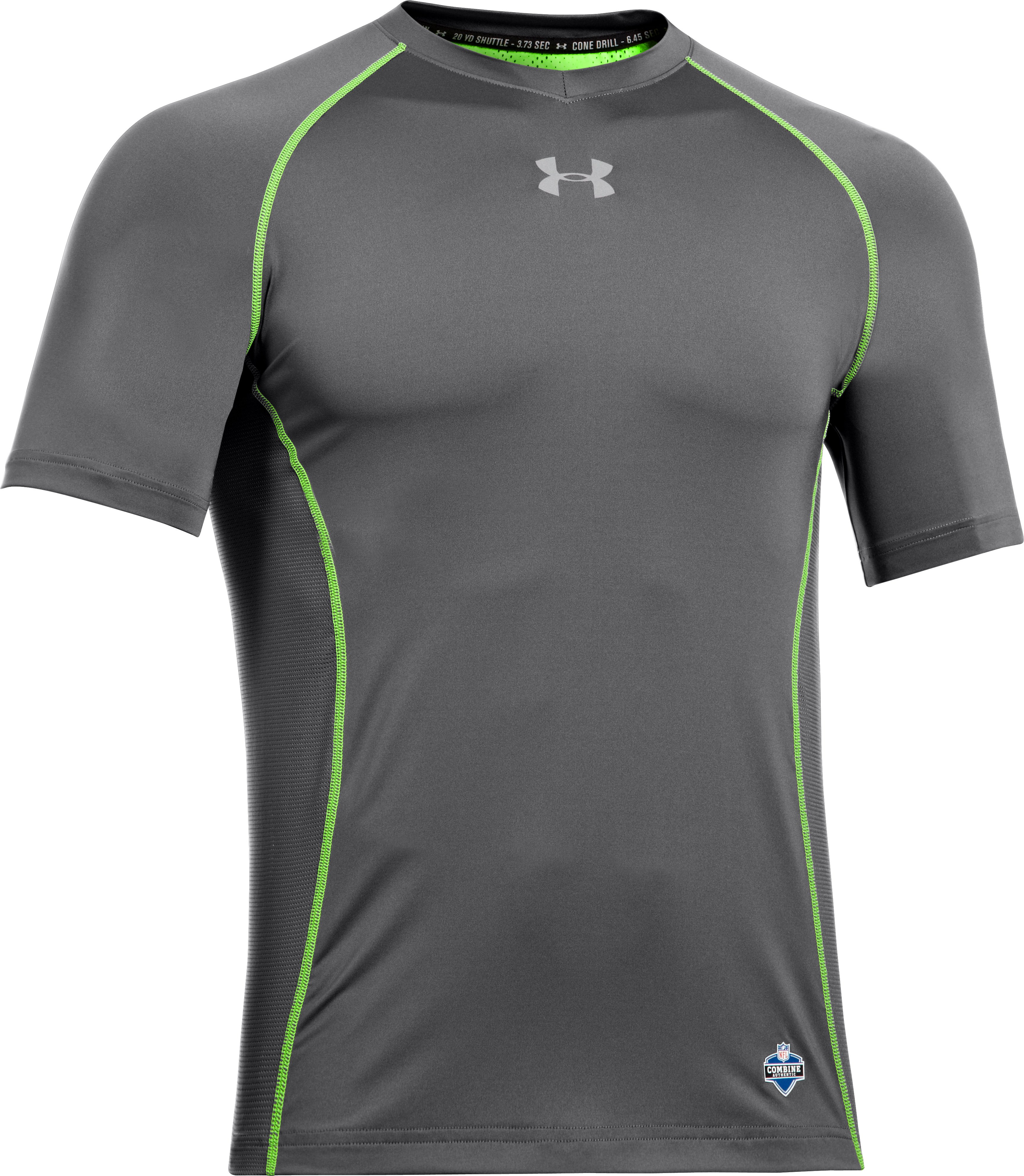 Men's NFL Combine Authentic Fitted Short Sleeve, Graphite