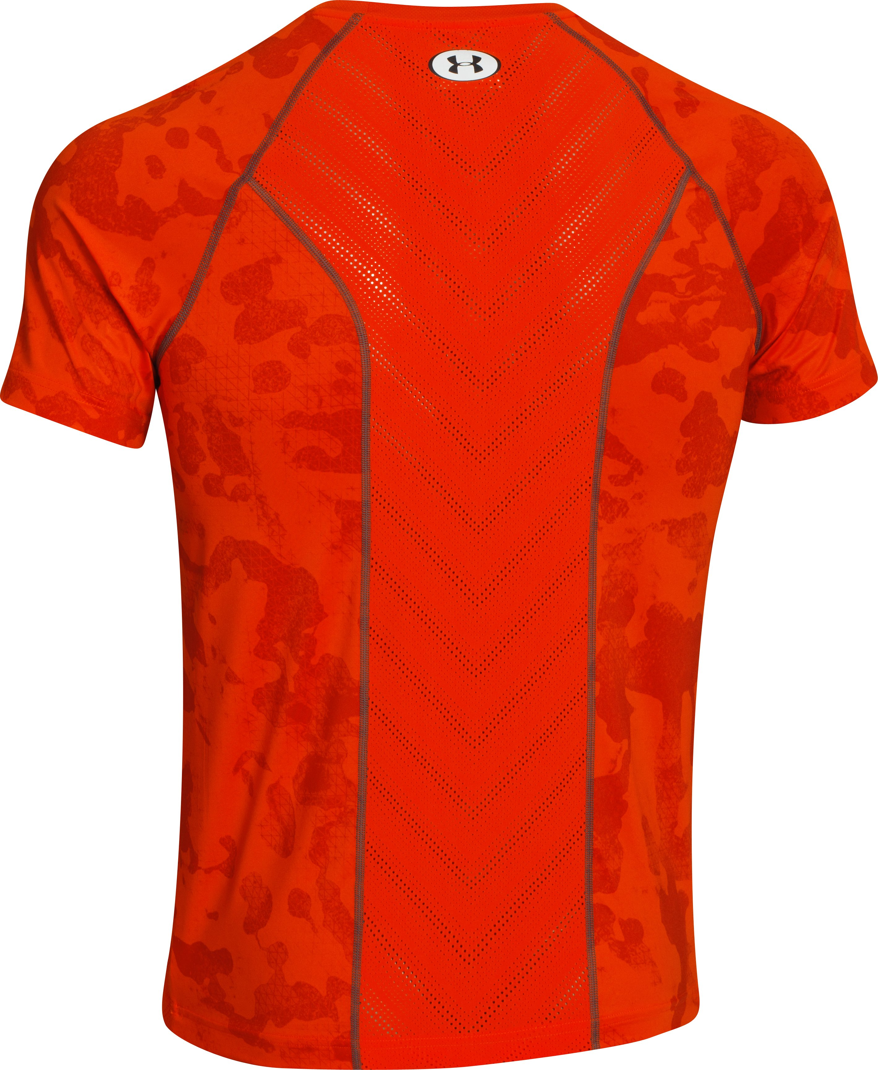 Men's HeatGear® Sonic ArmourVent™ Short Sleeve, Volcano