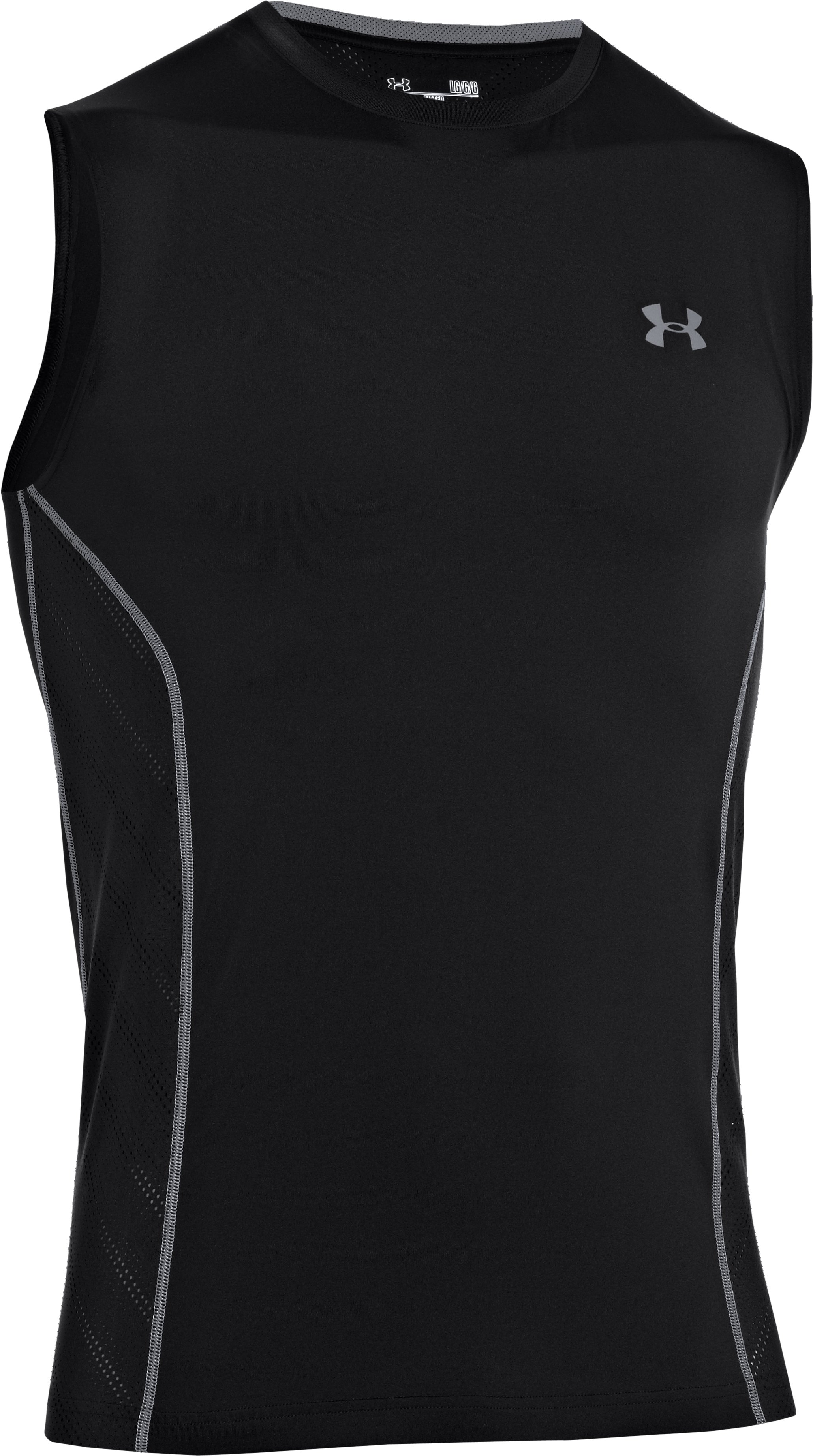 Men's HeatGear® Sonic ArmourVent™ Sleeveless, Black